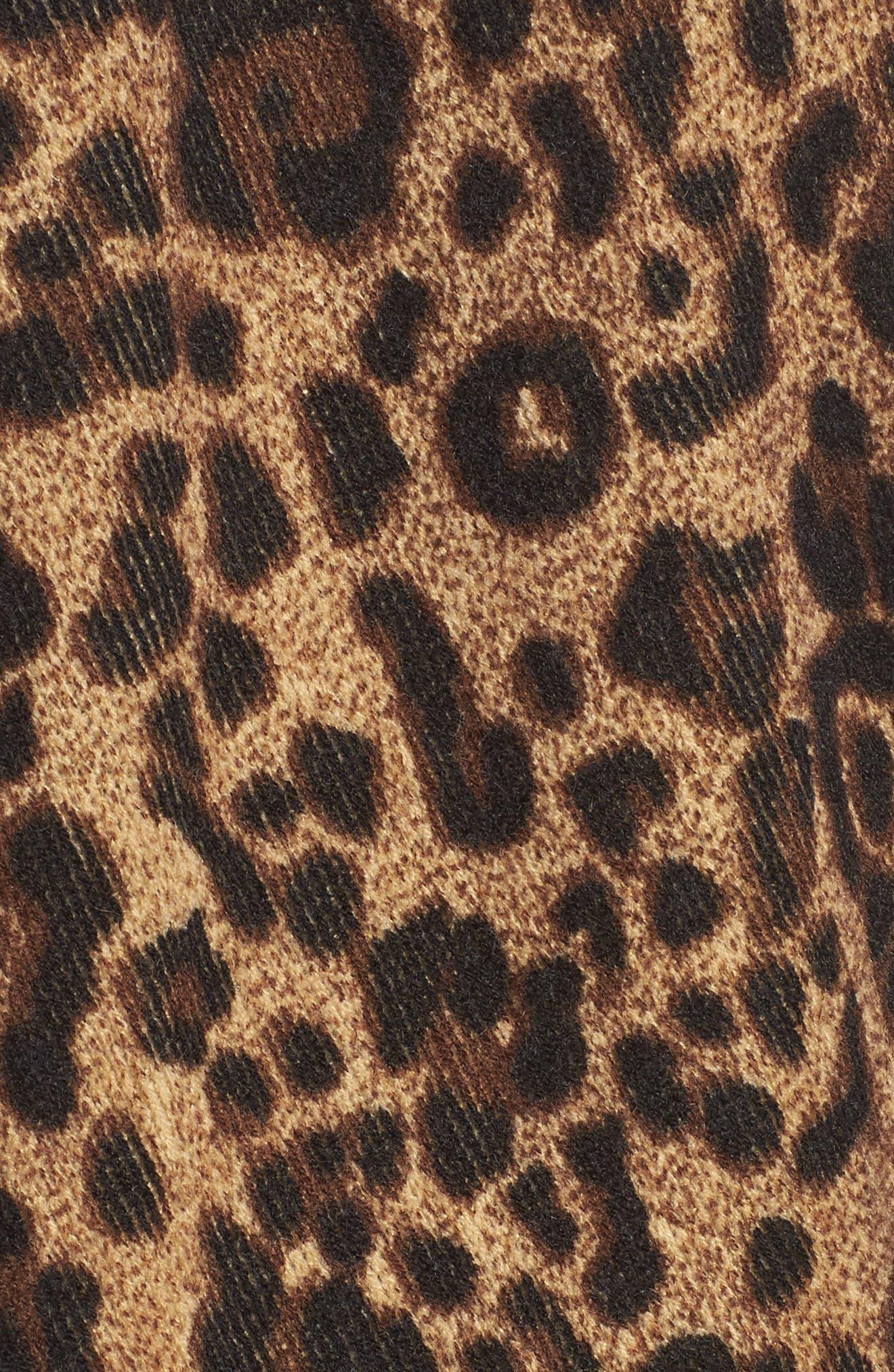 Alternate Image 5  - Sole Society Leopard Print Fringe Wrap
