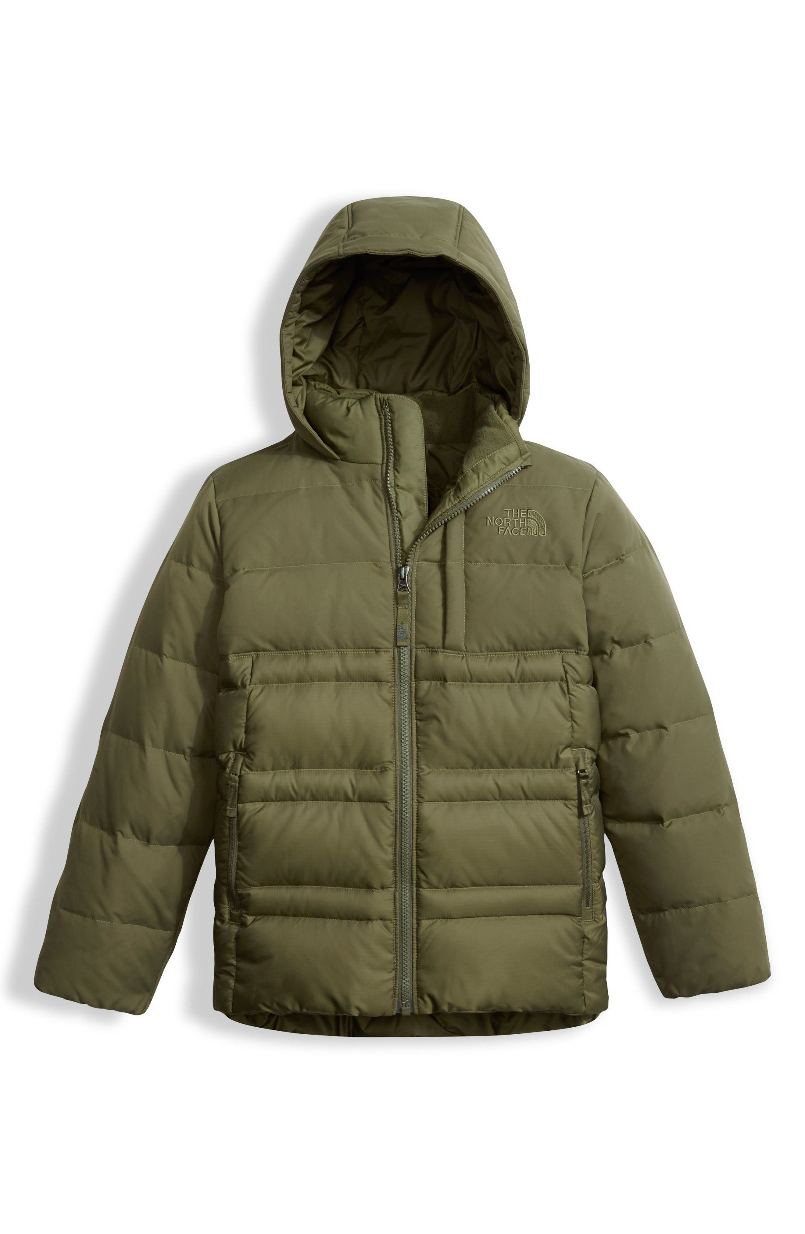 Franklin Water Resistant 550-Fill Down Jacket,                             Main thumbnail 1, color,                             Burnt Olive Green