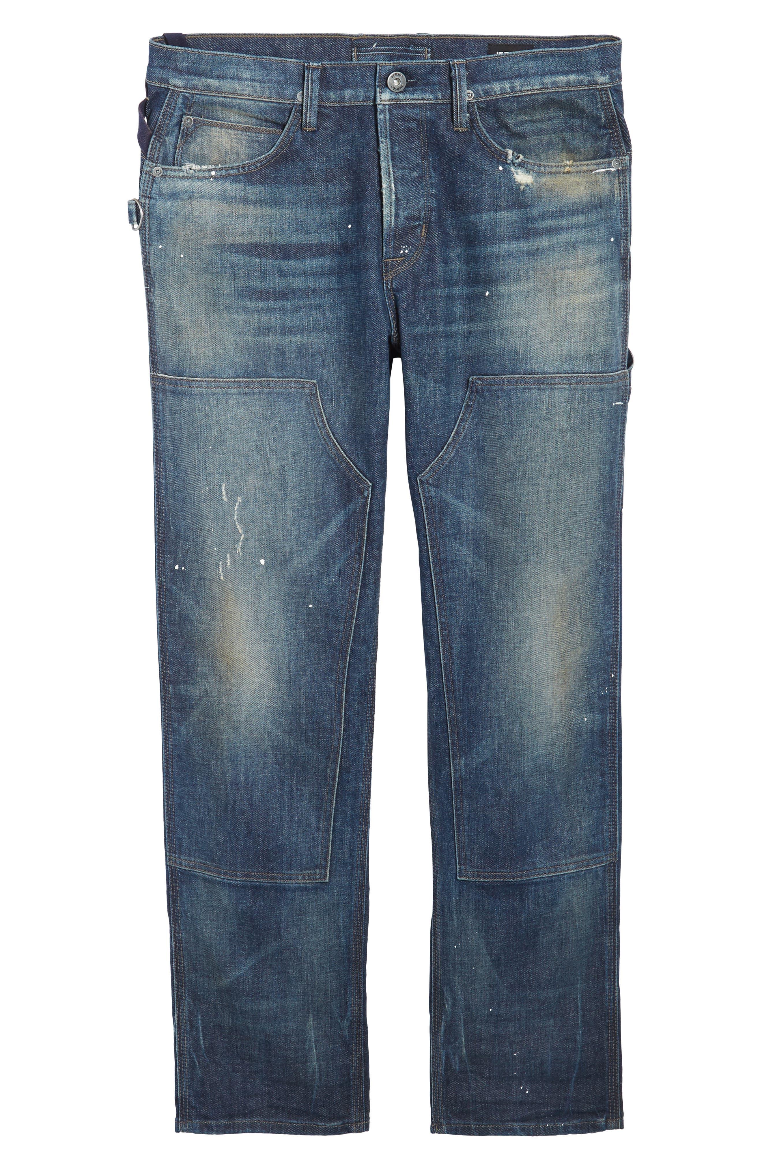 Hunter Straight Fit Jeans,                             Alternate thumbnail 6, color,                             Virus