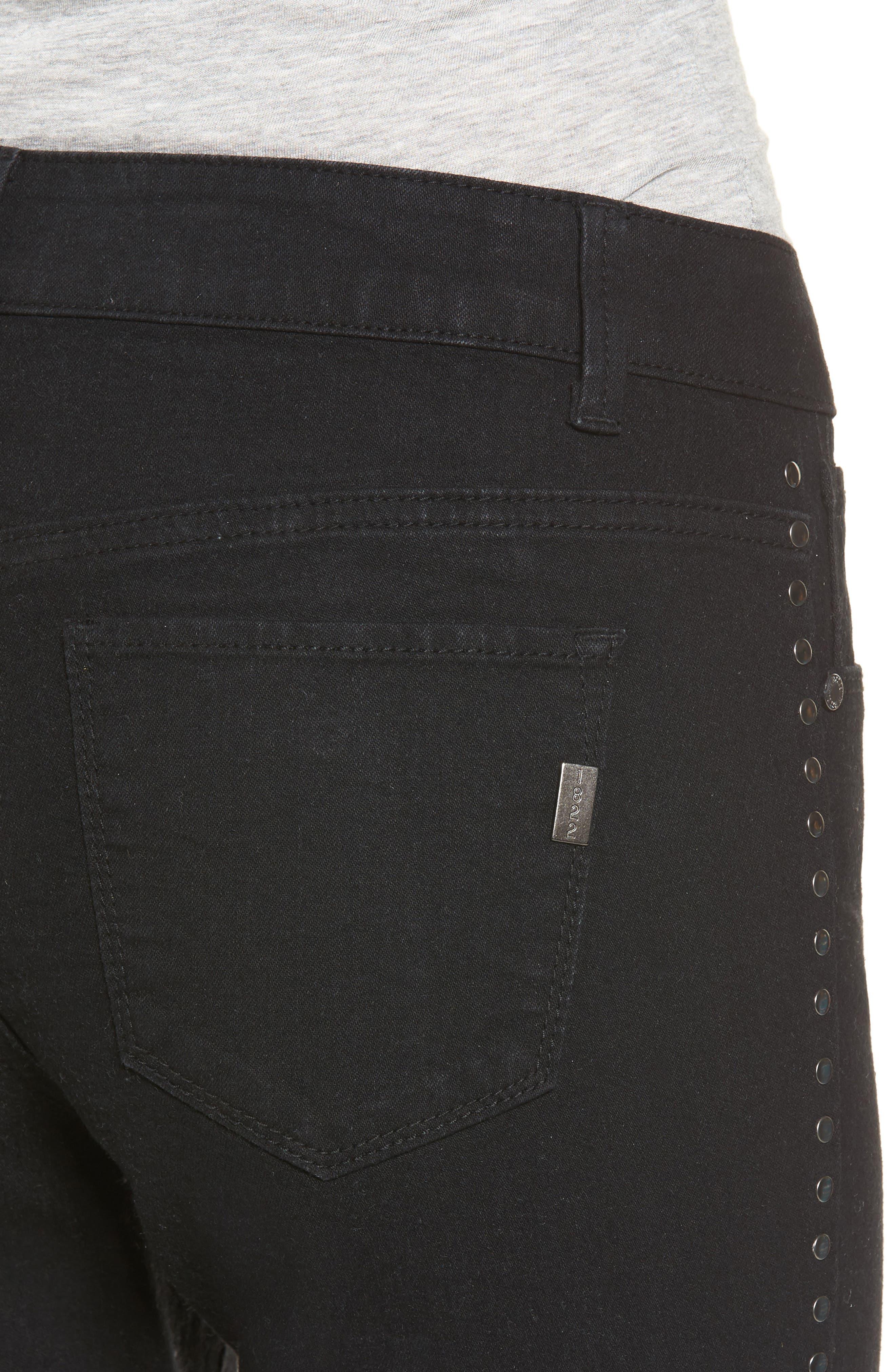 Alternate Image 4  - 1822 Denim Studded Skinny Jeans