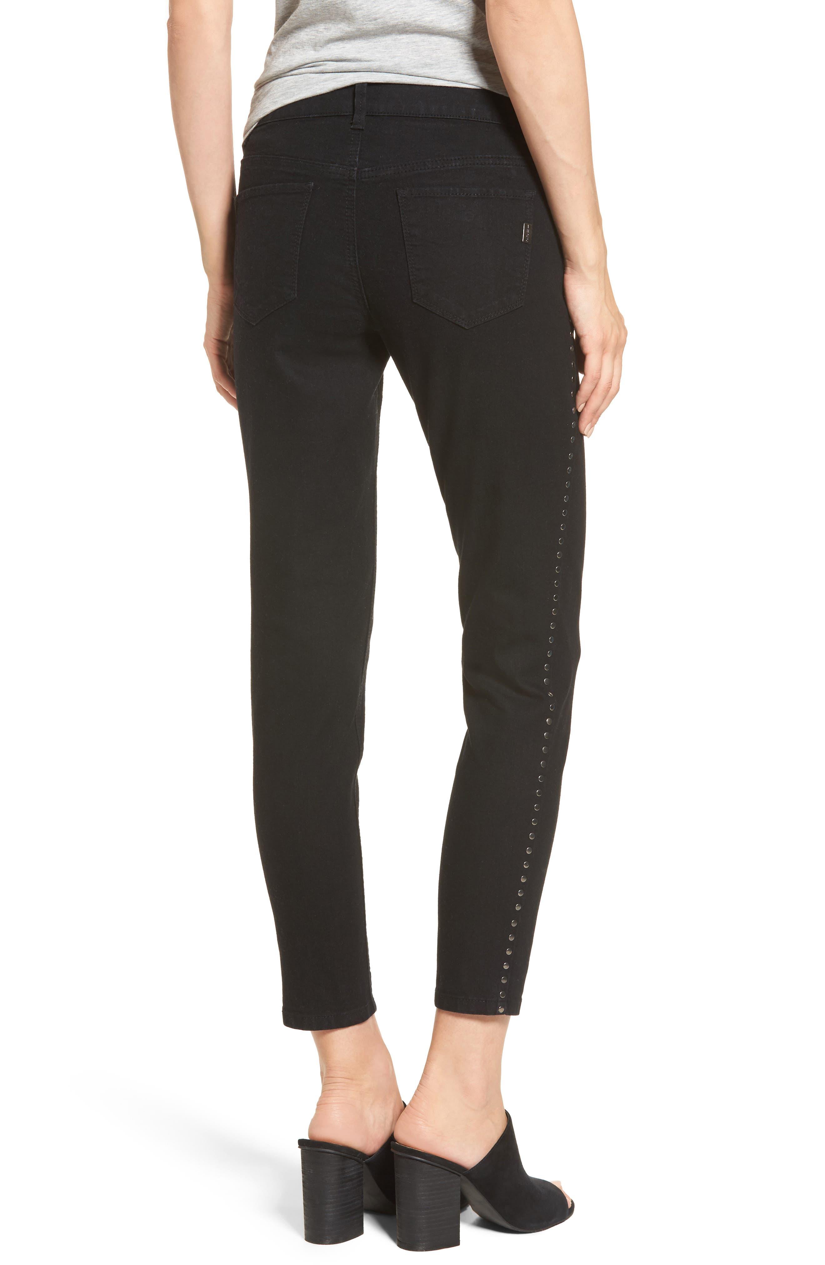 Alternate Image 2  - 1822 Denim Studded Skinny Jeans