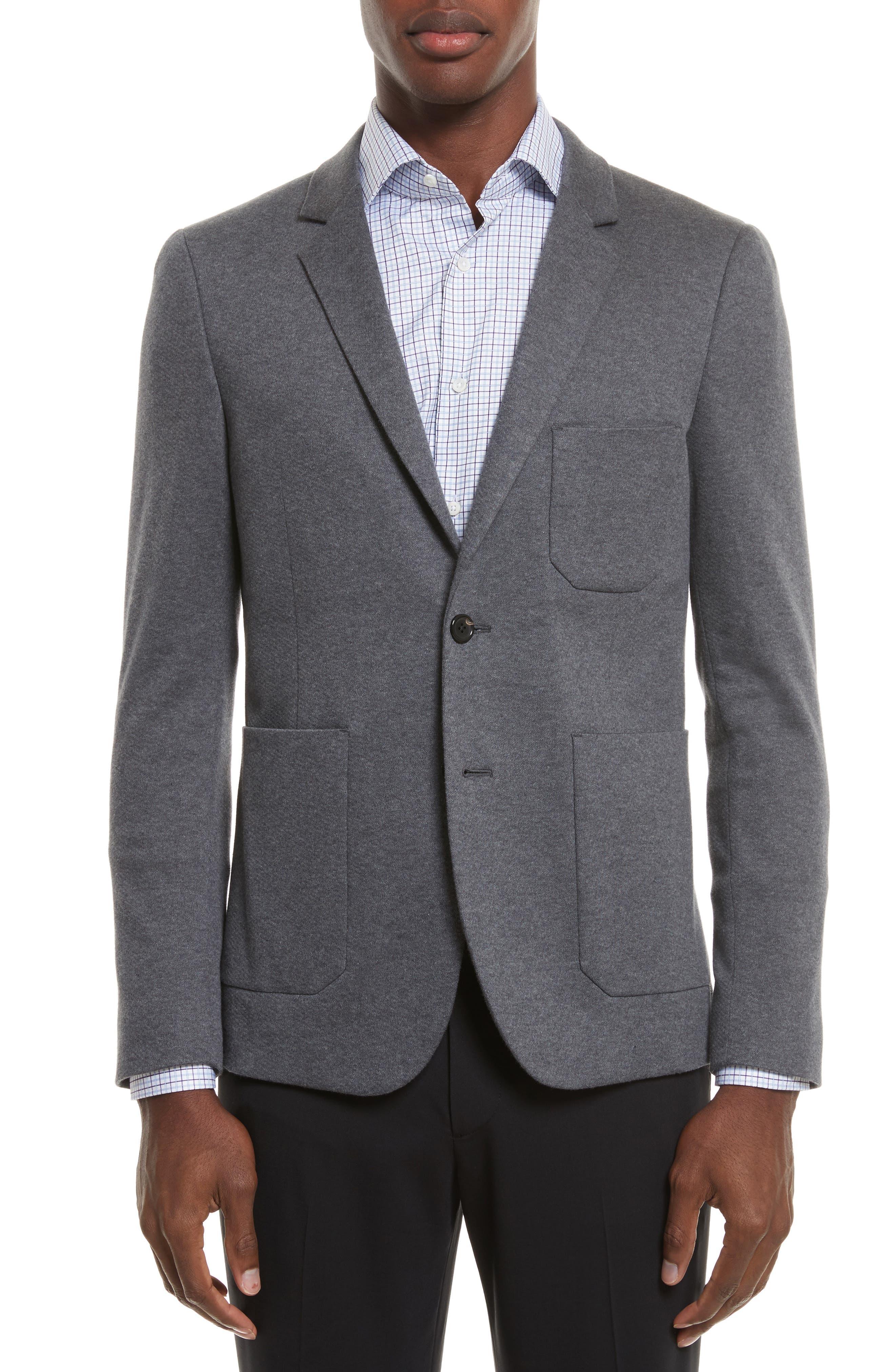 Slim Fit Sport Coat,                         Main,                         color, Grey