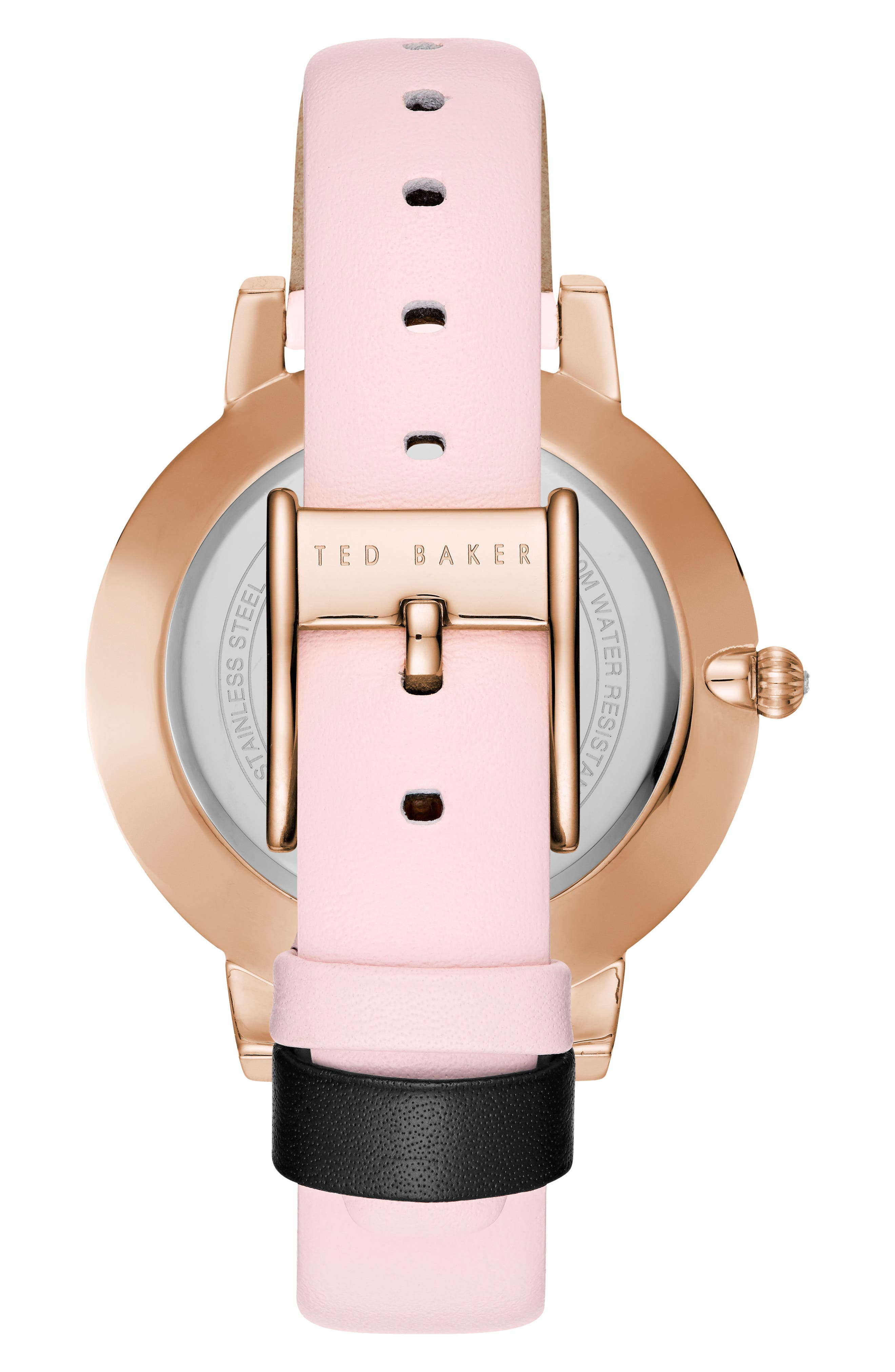 Kate Leather Strap Watch, 38mm,                             Alternate thumbnail 2, color,                             Pink/ Mop/ Rose Gold