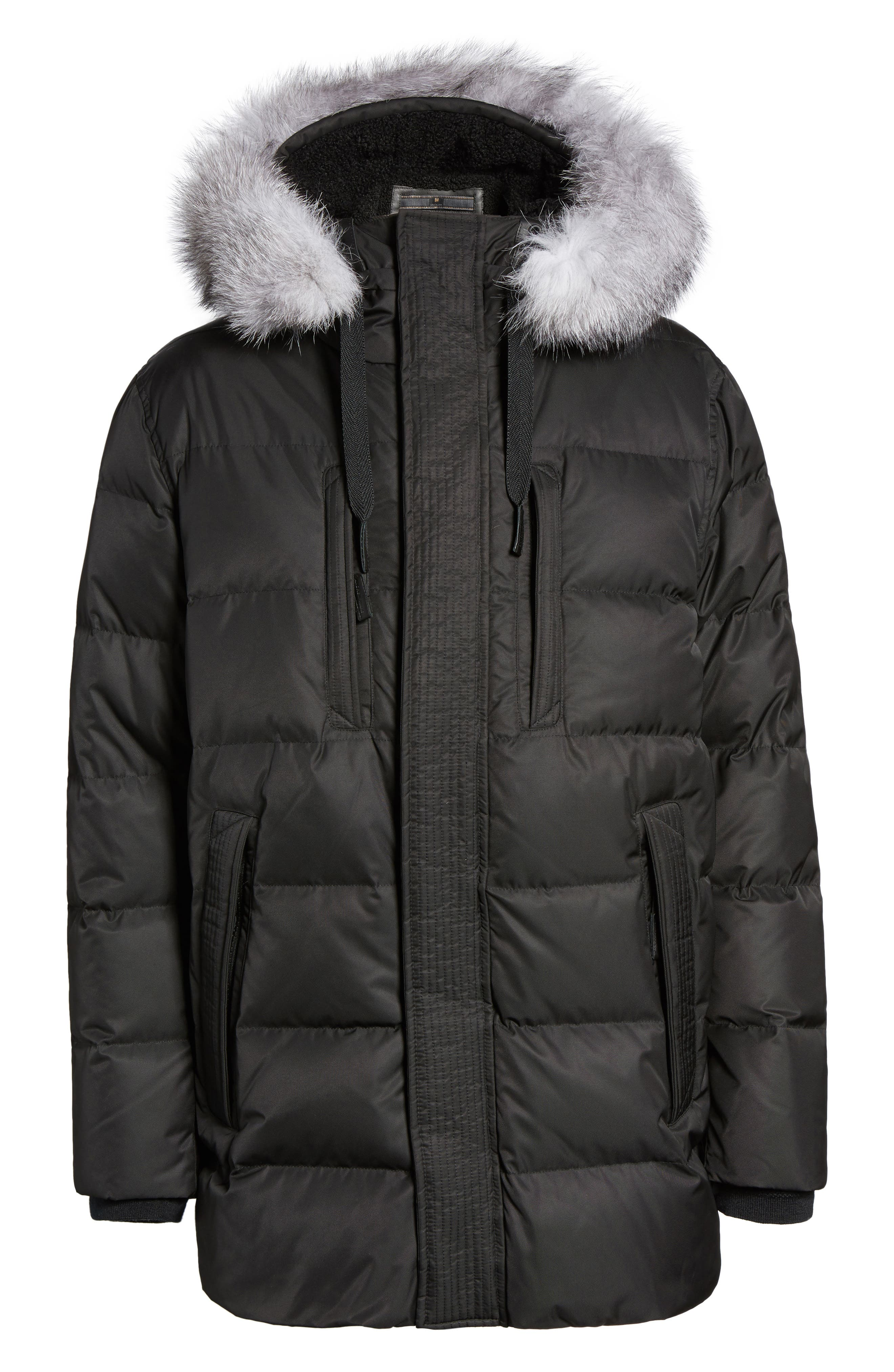 Alternate Image 5  - Andrew Marc Quilted Down Jacket with Genuine Fox Fur Trim
