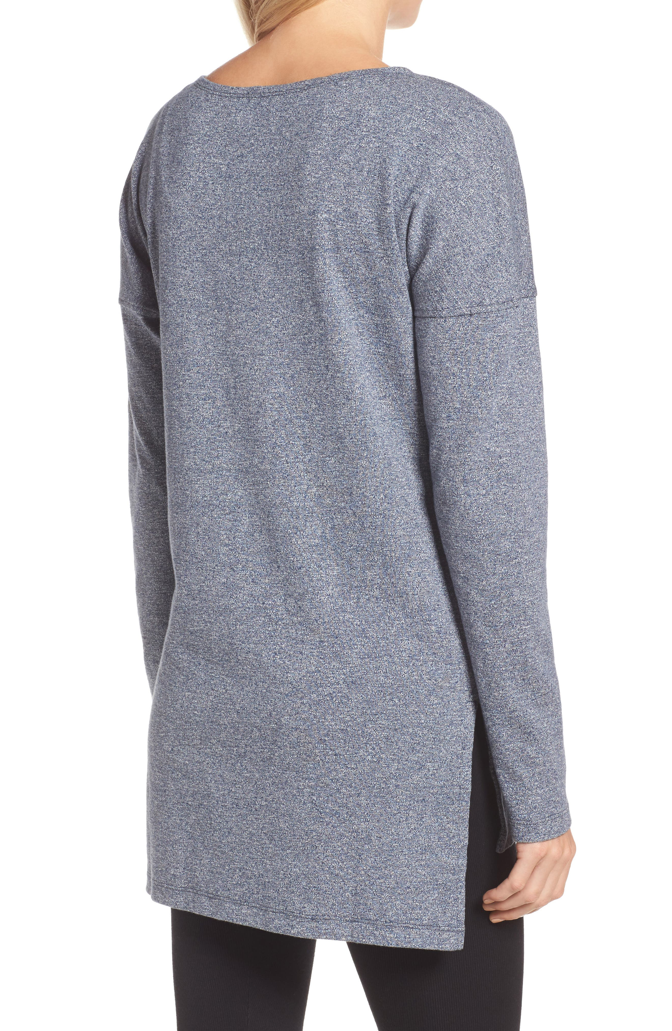 Alternate Image 2  - UGG® Luella High/Low Cotton Pullover