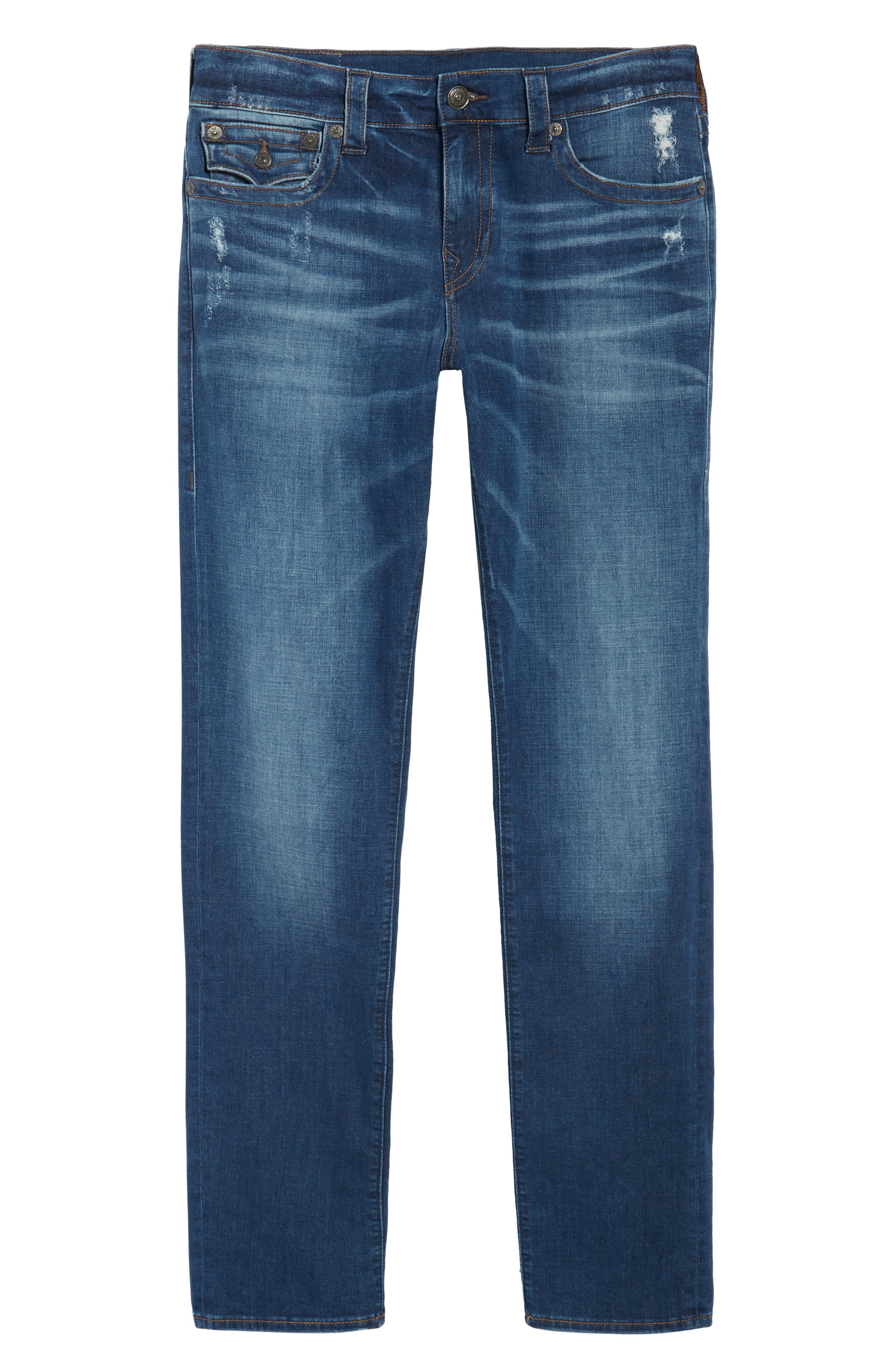 Alternate Image 6  - True Religion Brand Jeans Geno Straight Leg Jeans (Street Vice)