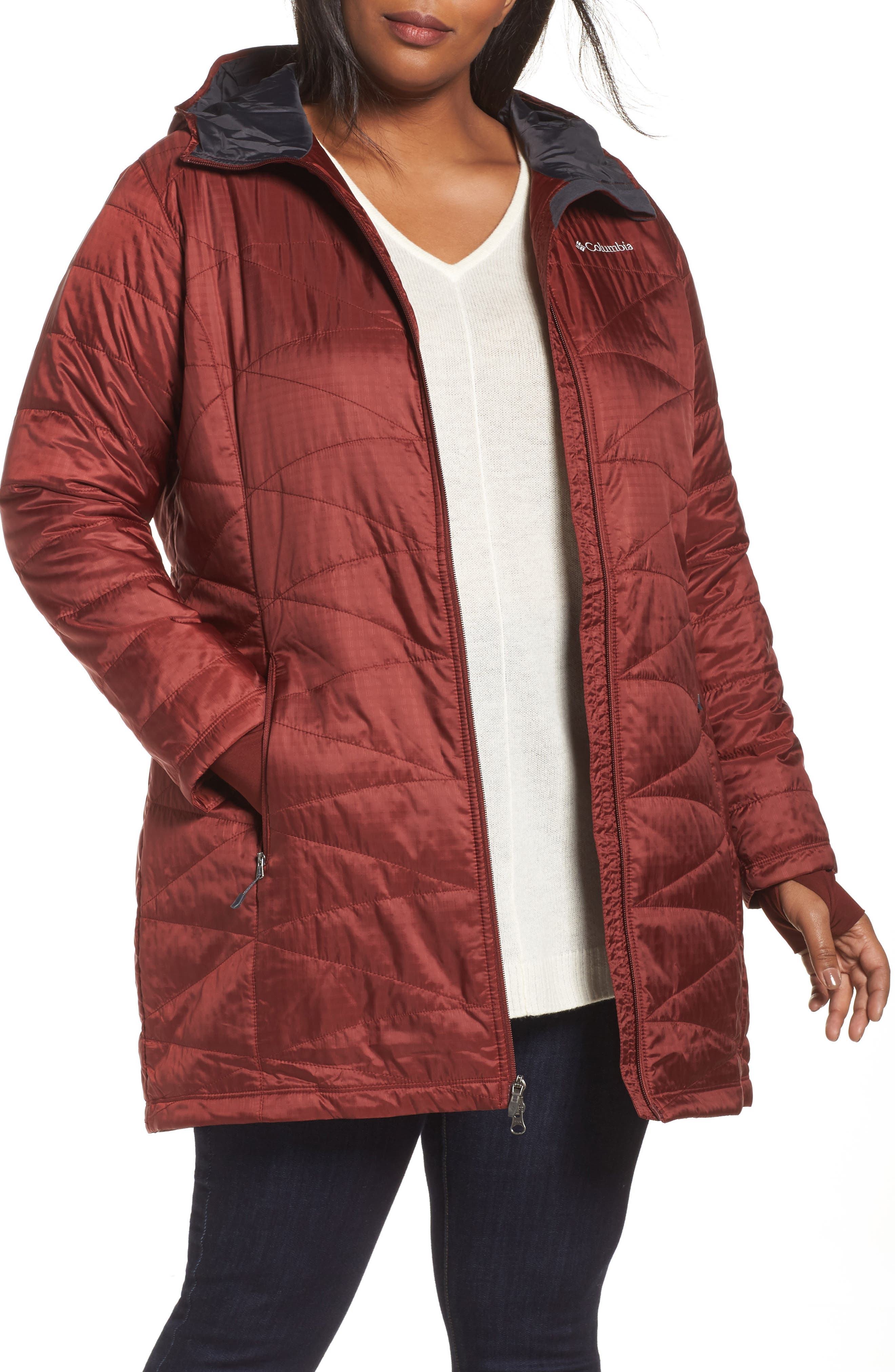 Mighty Lite Hooded Jacket,                             Main thumbnail 1, color,                             Deep Rust