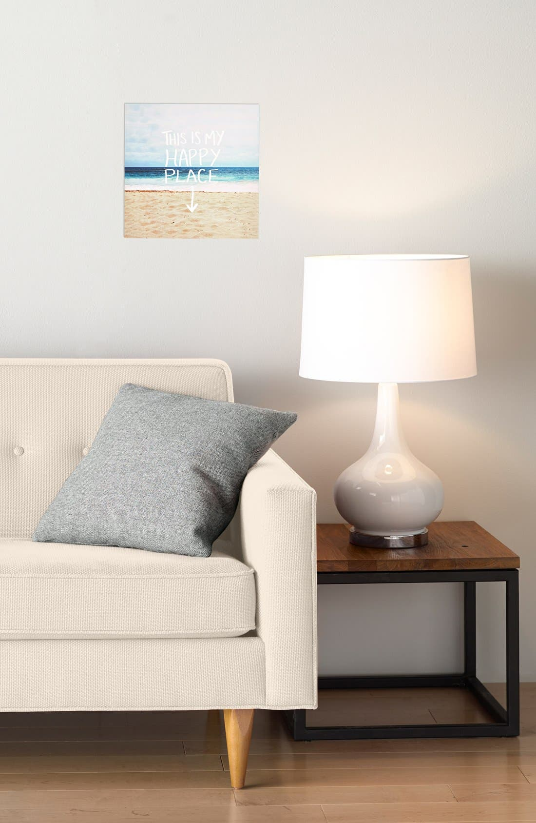 Alternate Image 2  - DENY Designs 'Leah Flores - This Is My Happy Place' Canvas Wall Art
