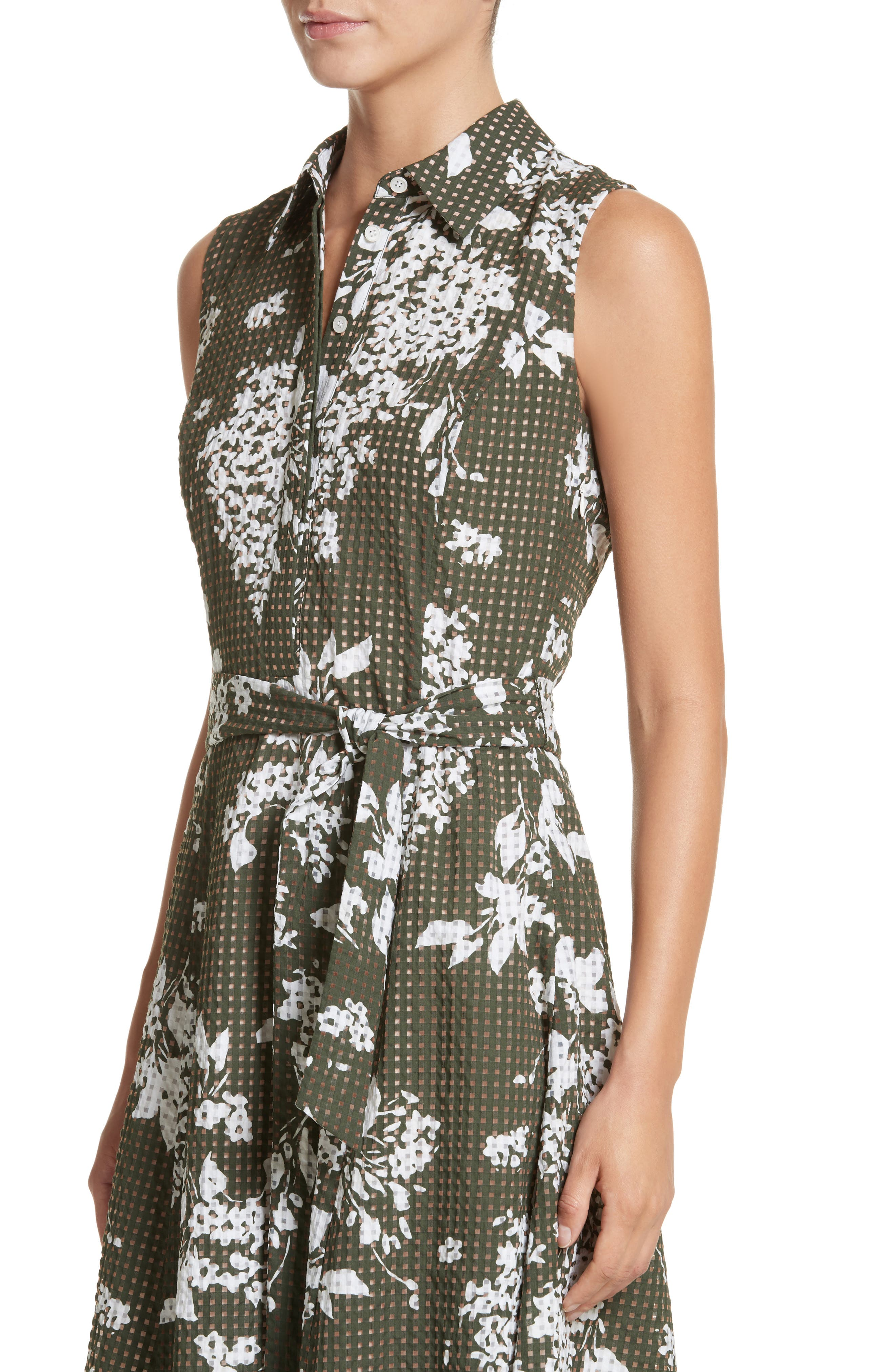 Alternate Image 4  - Lafayette 148 New York Moxie Sleeveless Shirtdress