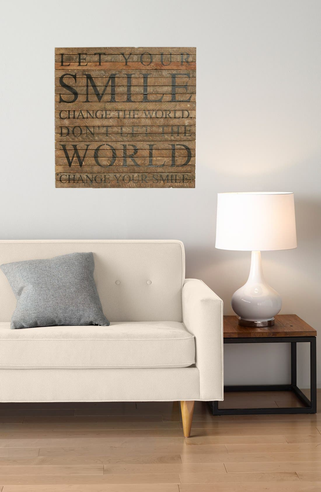 Alternate Image 2  - Second Nature by Hand 'Let Your Smile Change the World' Wall Art