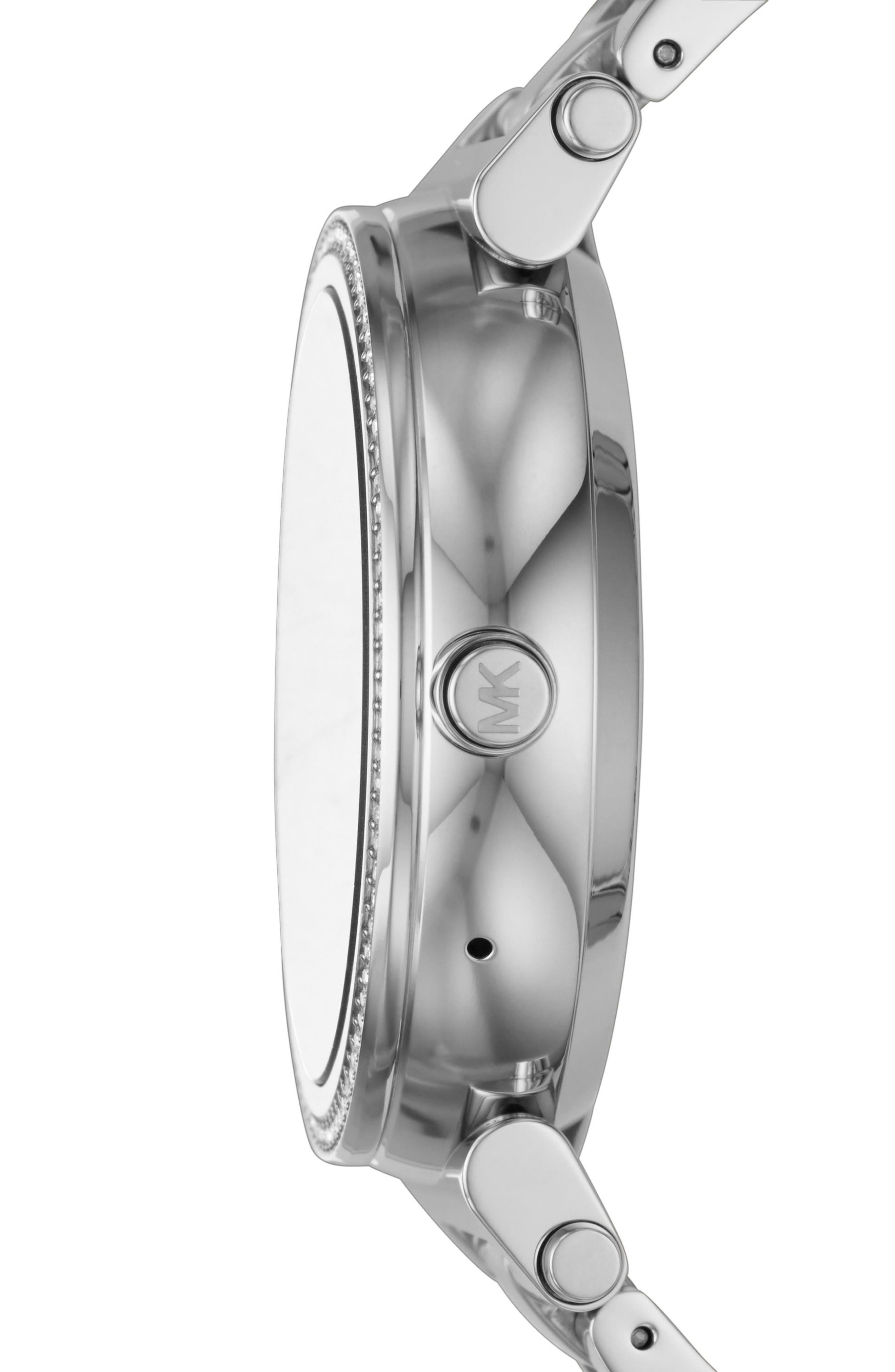 Sofie Smart Bracelet Watch, 42mm,                             Alternate thumbnail 5, color,                             Silver/ Black/ Silver