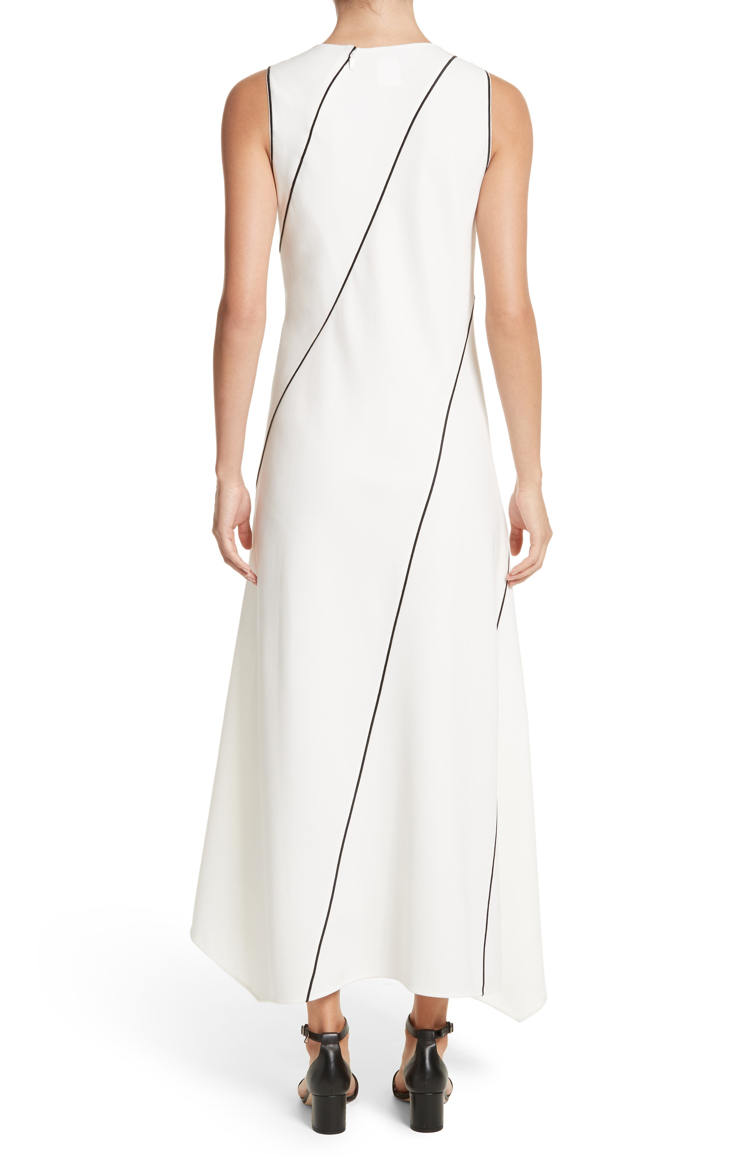 Alternate Image 2  - Lafayette 148 New York Madelia Velvet & Satin Midi Dress