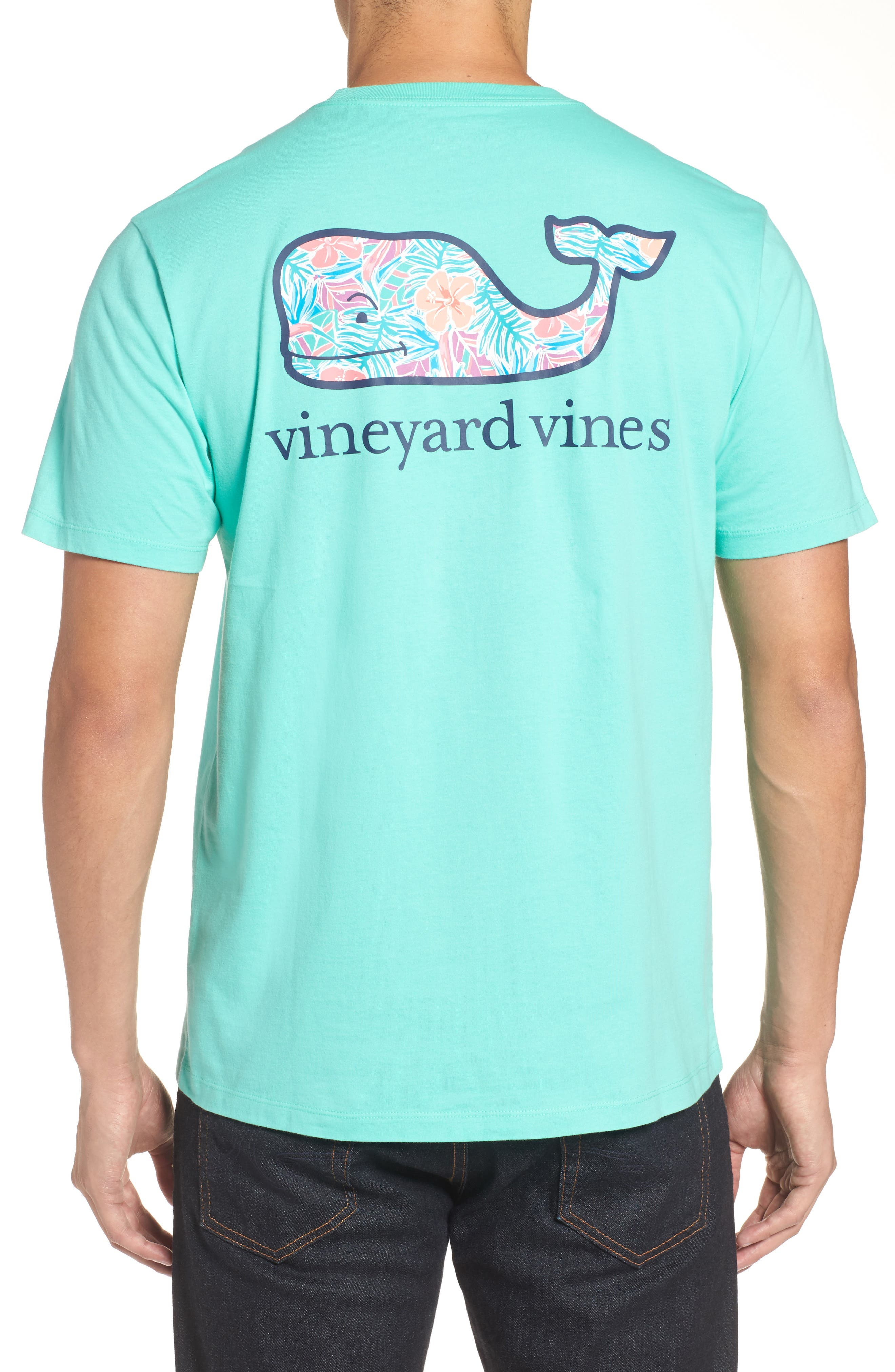 Main Image - vineyard vines Floral Whale Fill Pocket T-Shirt