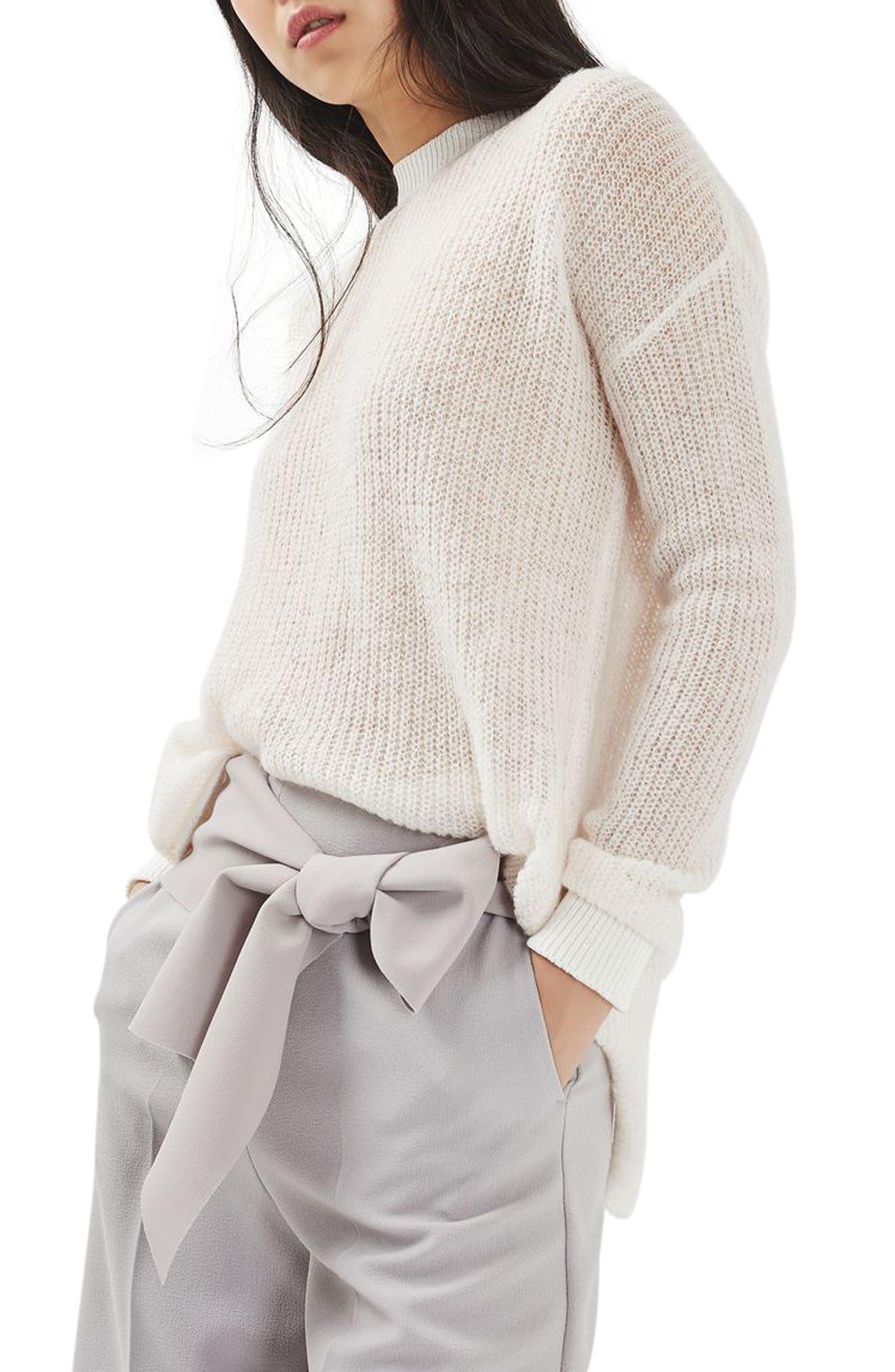 Main Image - Topshop Envelope Back Sweater