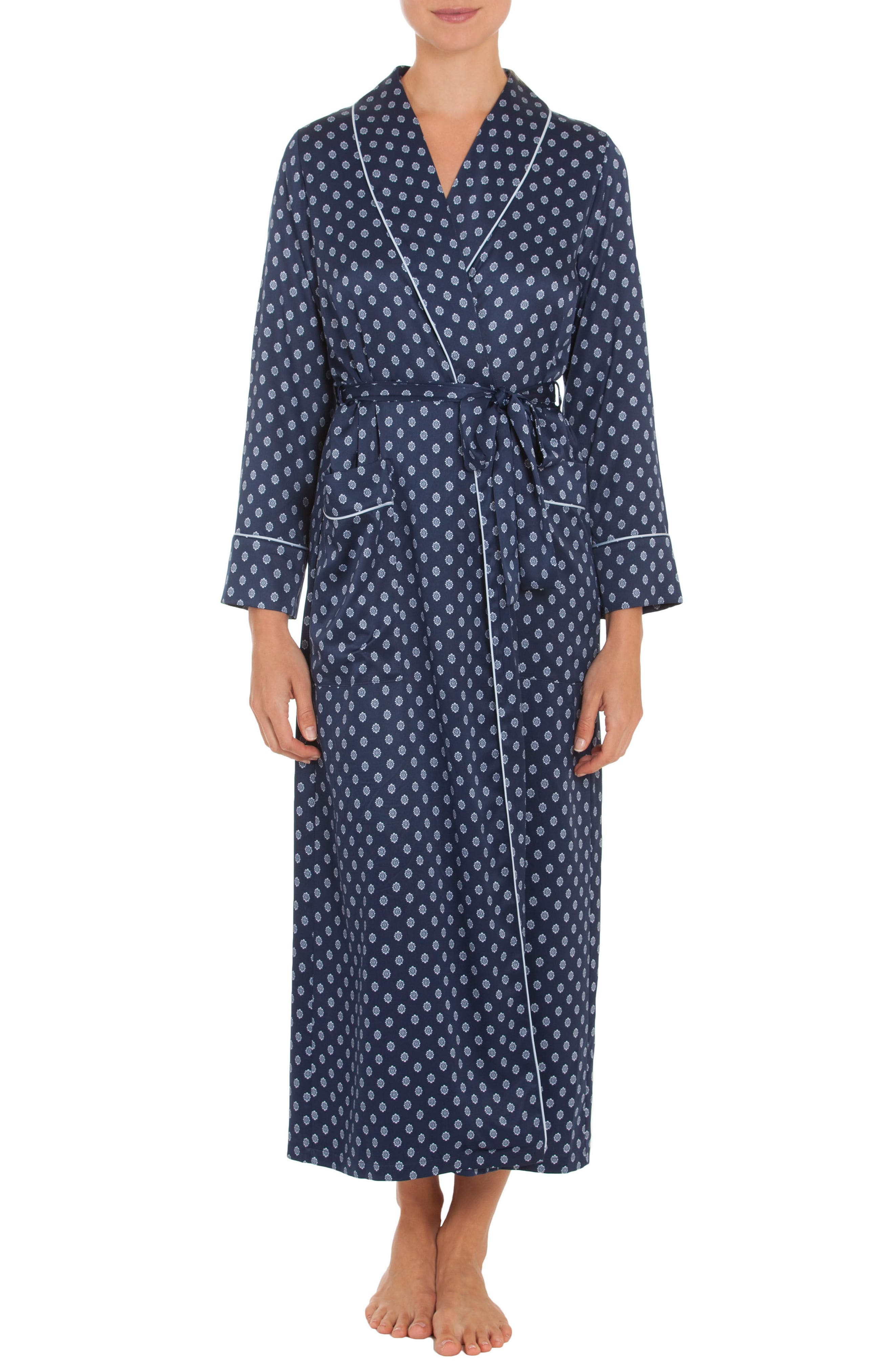 Robe,                         Main,                         color, Navy Foulard