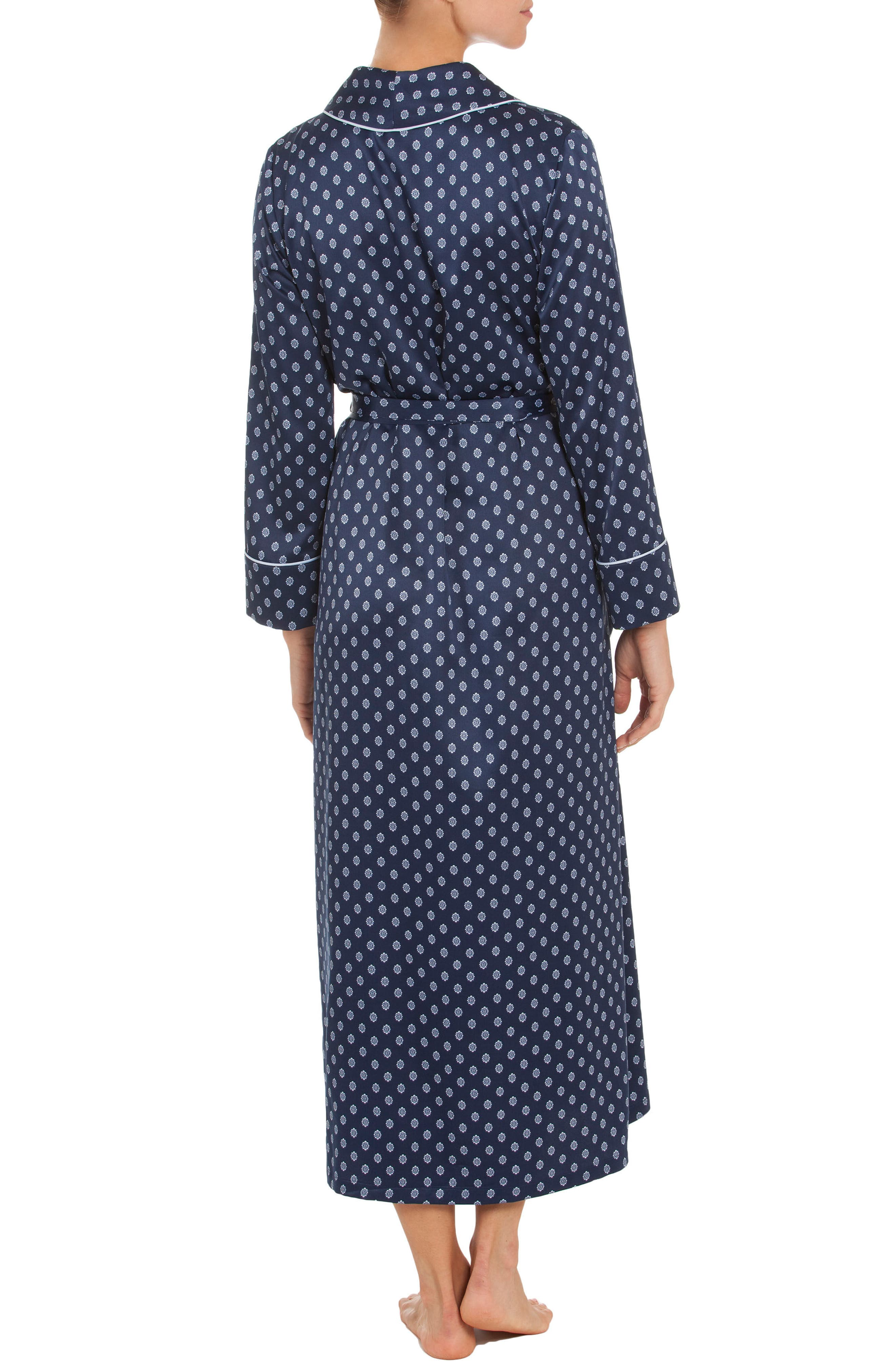 Robe,                             Alternate thumbnail 2, color,                             Navy Foulard