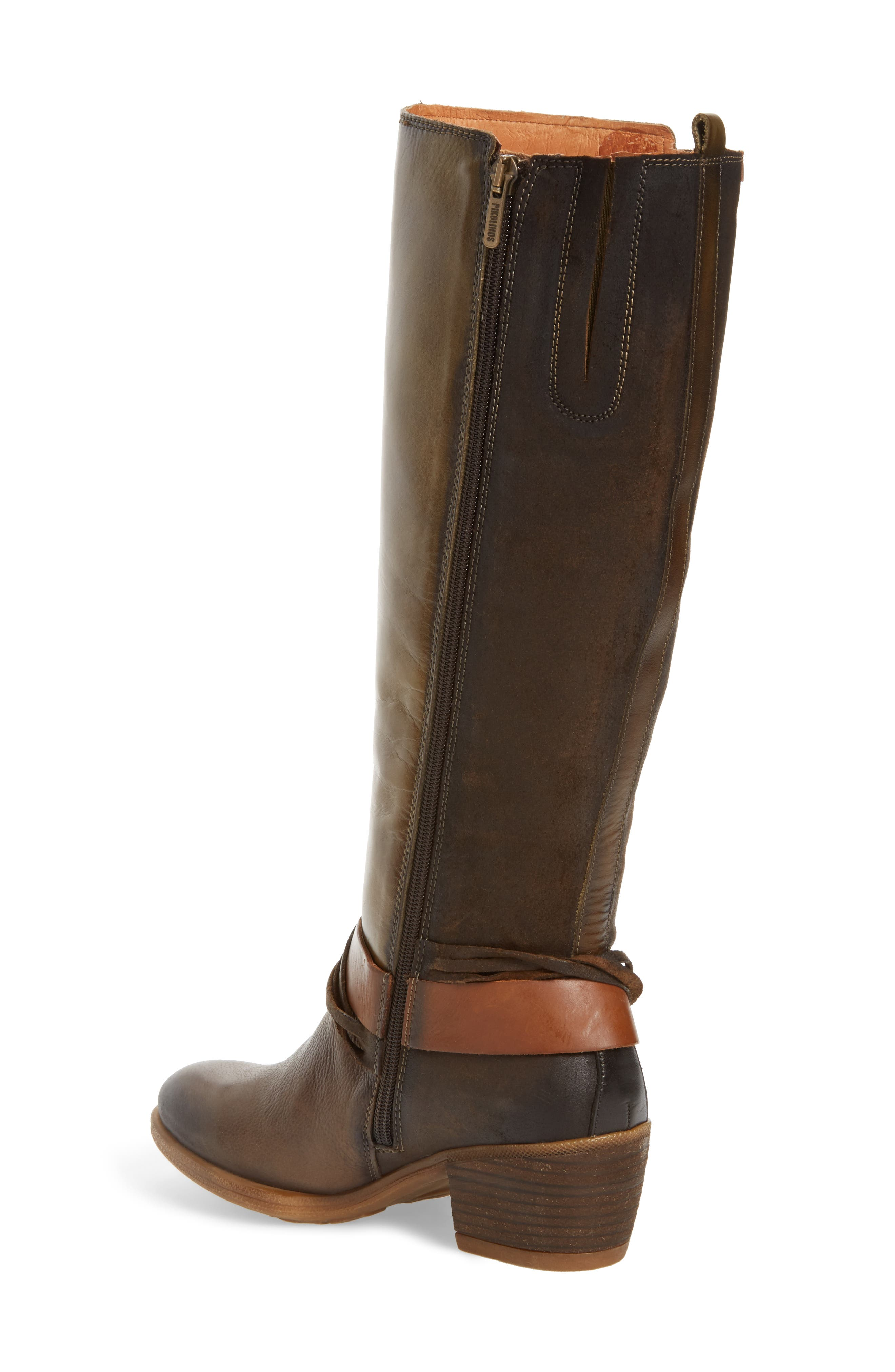 Baqueira Water Resistant Tall Boot,                             Alternate thumbnail 2, color,                             Seaweed Leather