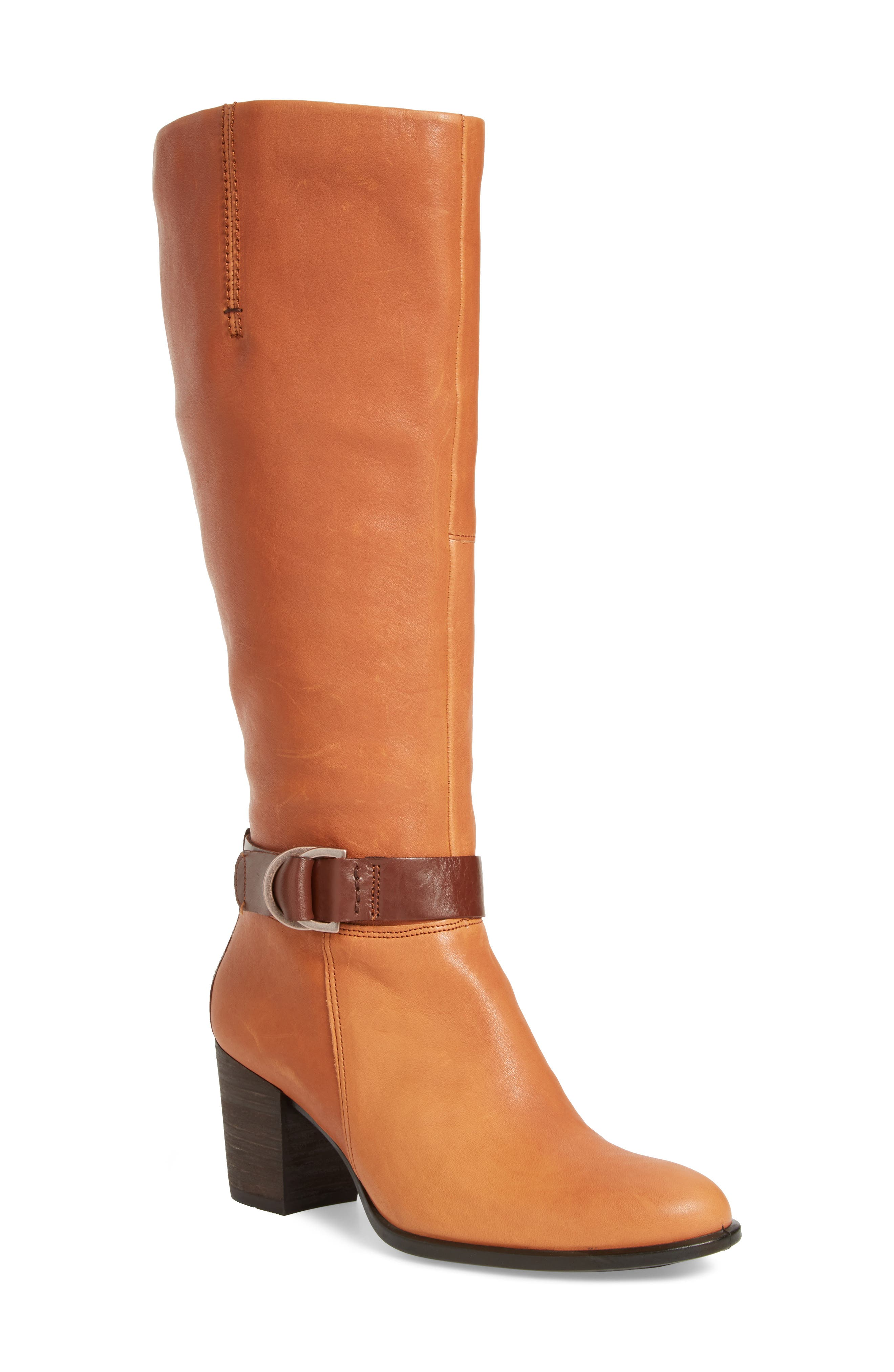 Shape 55 Tall Boot,                             Main thumbnail 1, color,                             Cognac Leather