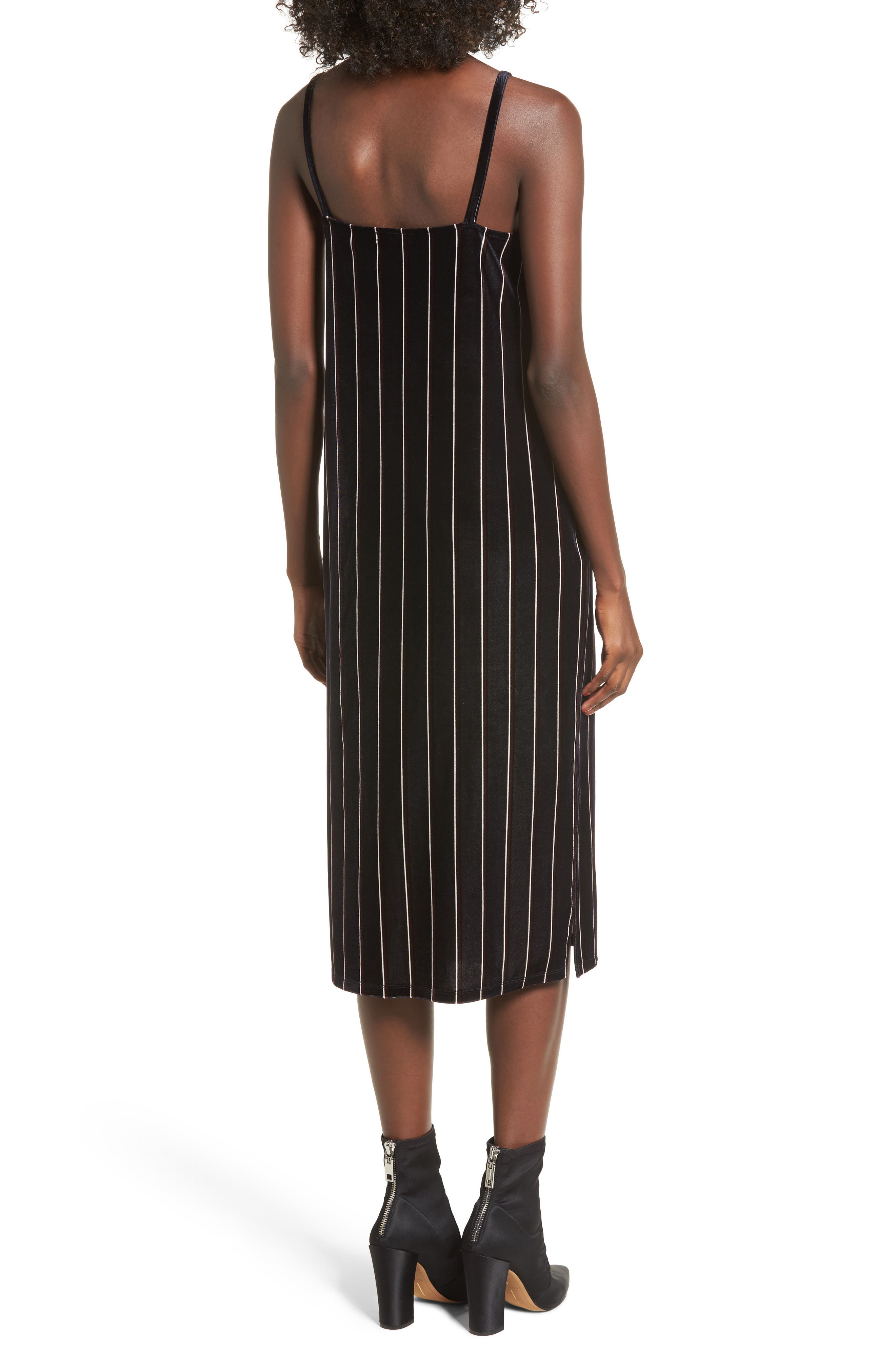 Alternate Image 2  - Leith Stripe Velour Slipdress
