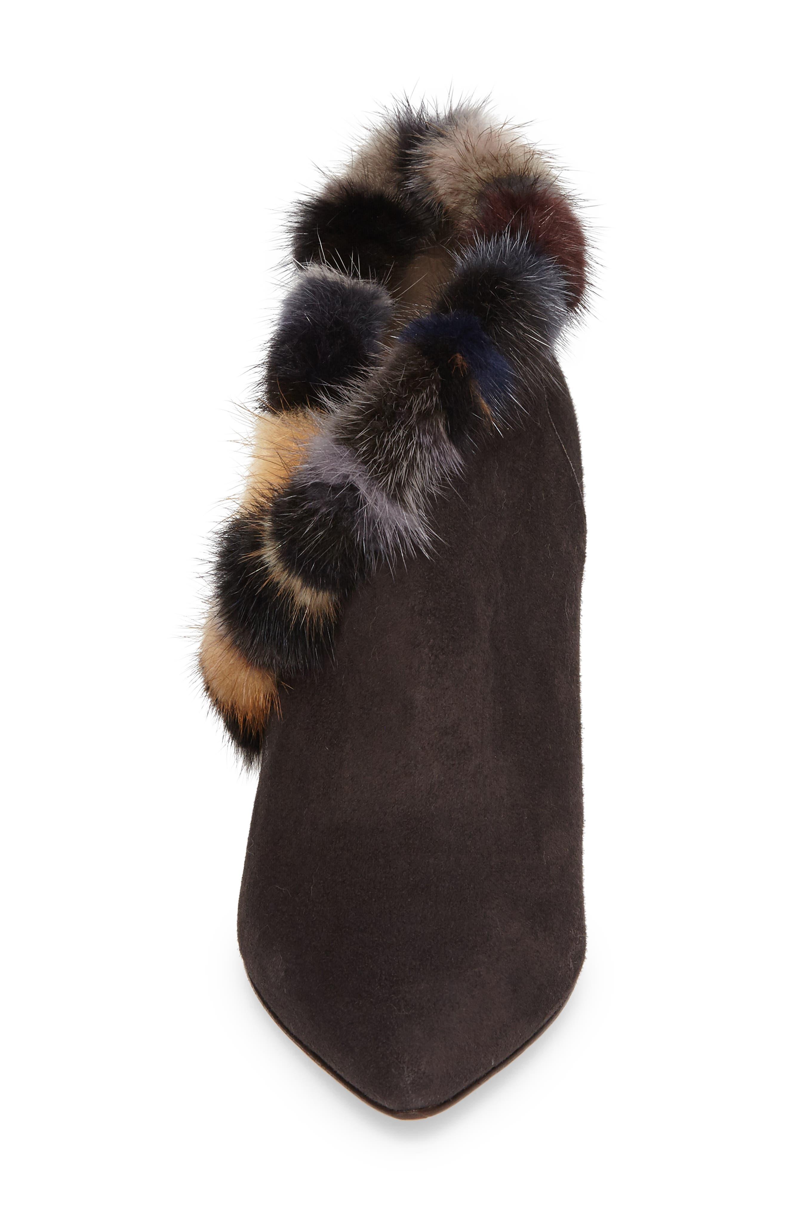 Alternate Image 4  - Donald J Pliner Renata Genuine Mink Fur Trim Bootie (Women)