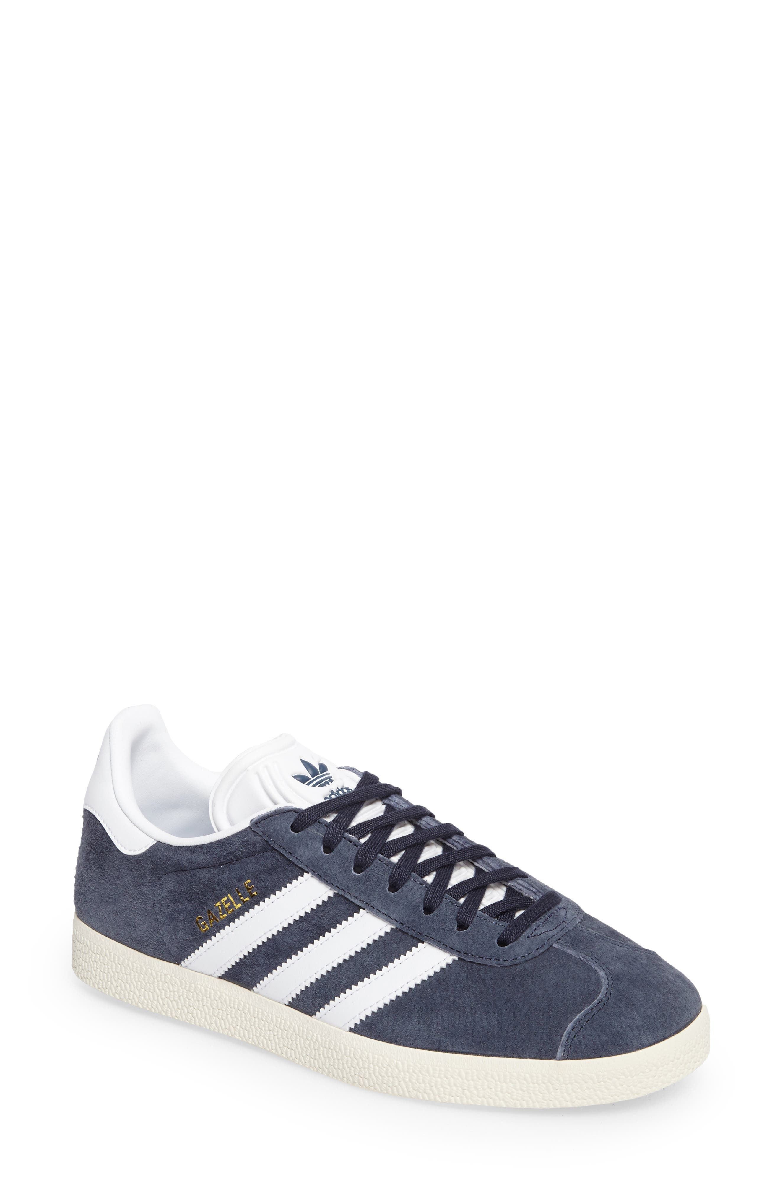 Main Image - adidas Gazelle Sneaker. Core Black swatch image Trace Blue/  White ...