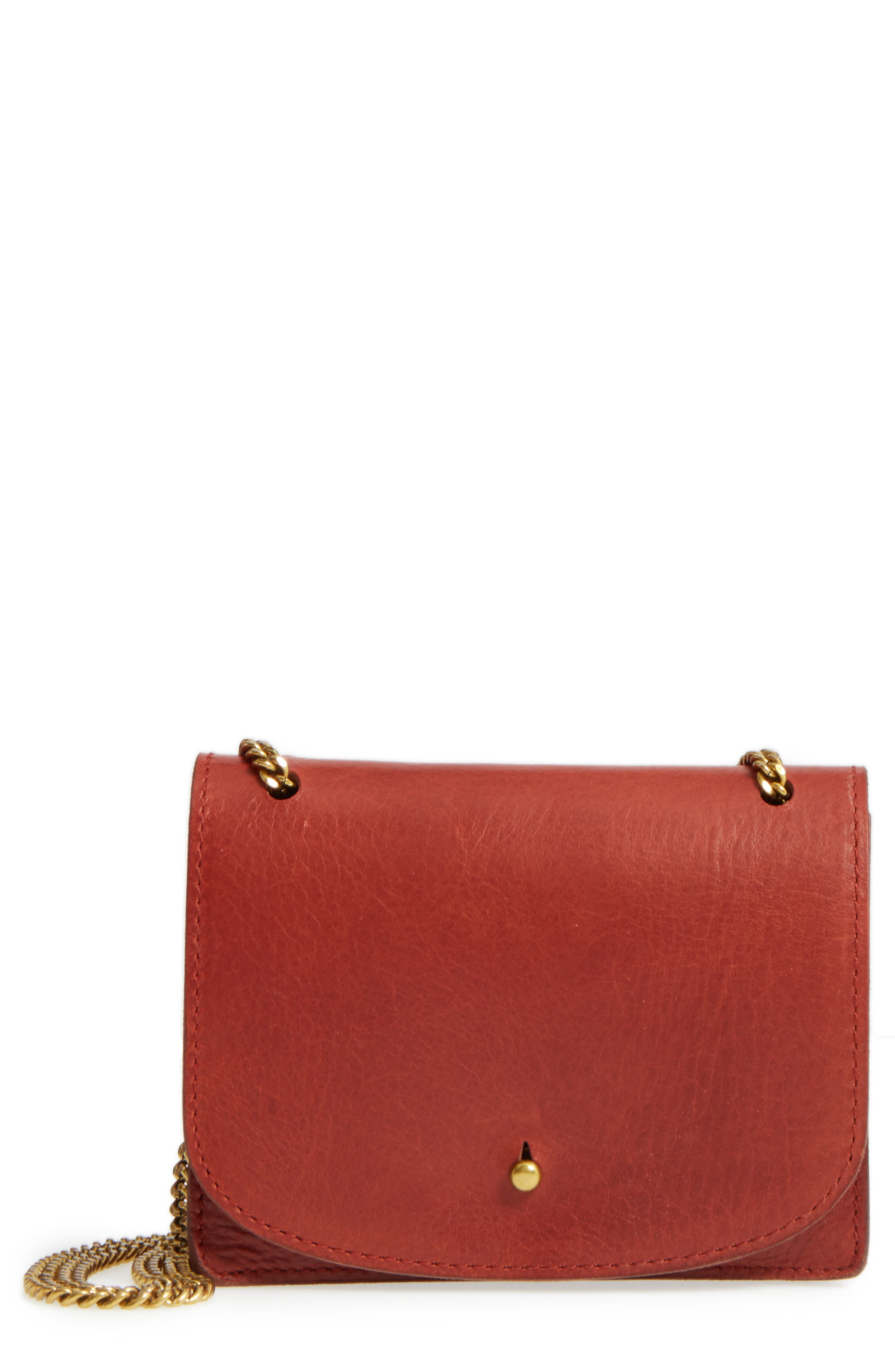 Alternate Image 1 Selected - Madewell Leather Crossbody Wallet
