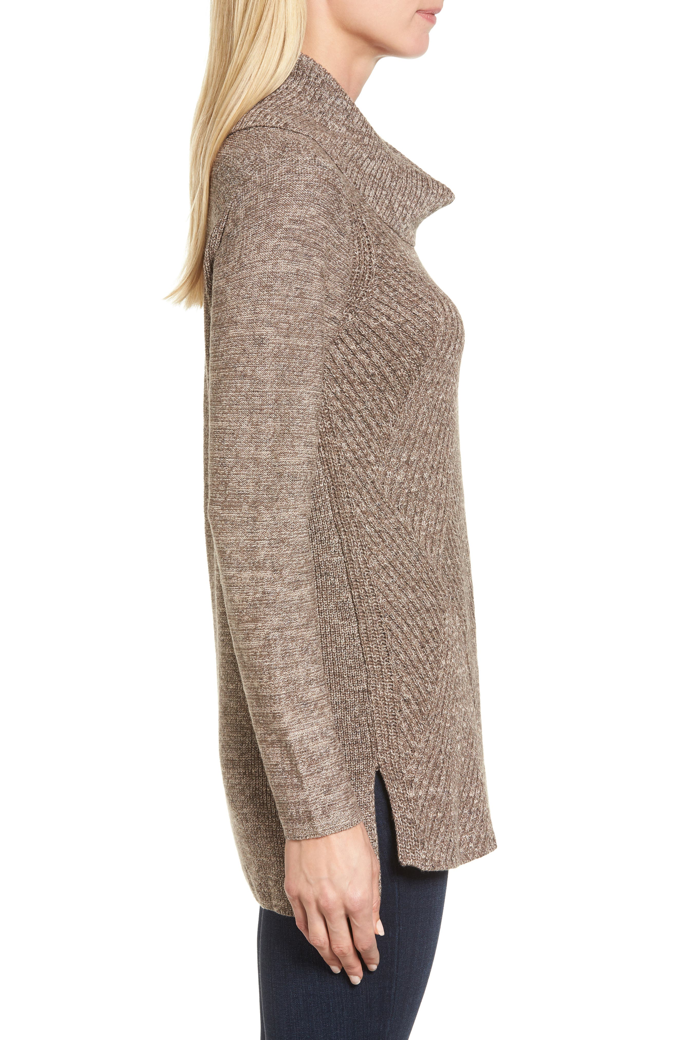 North Star Turtleneck Tunic,                             Alternate thumbnail 3, color,                             Kona