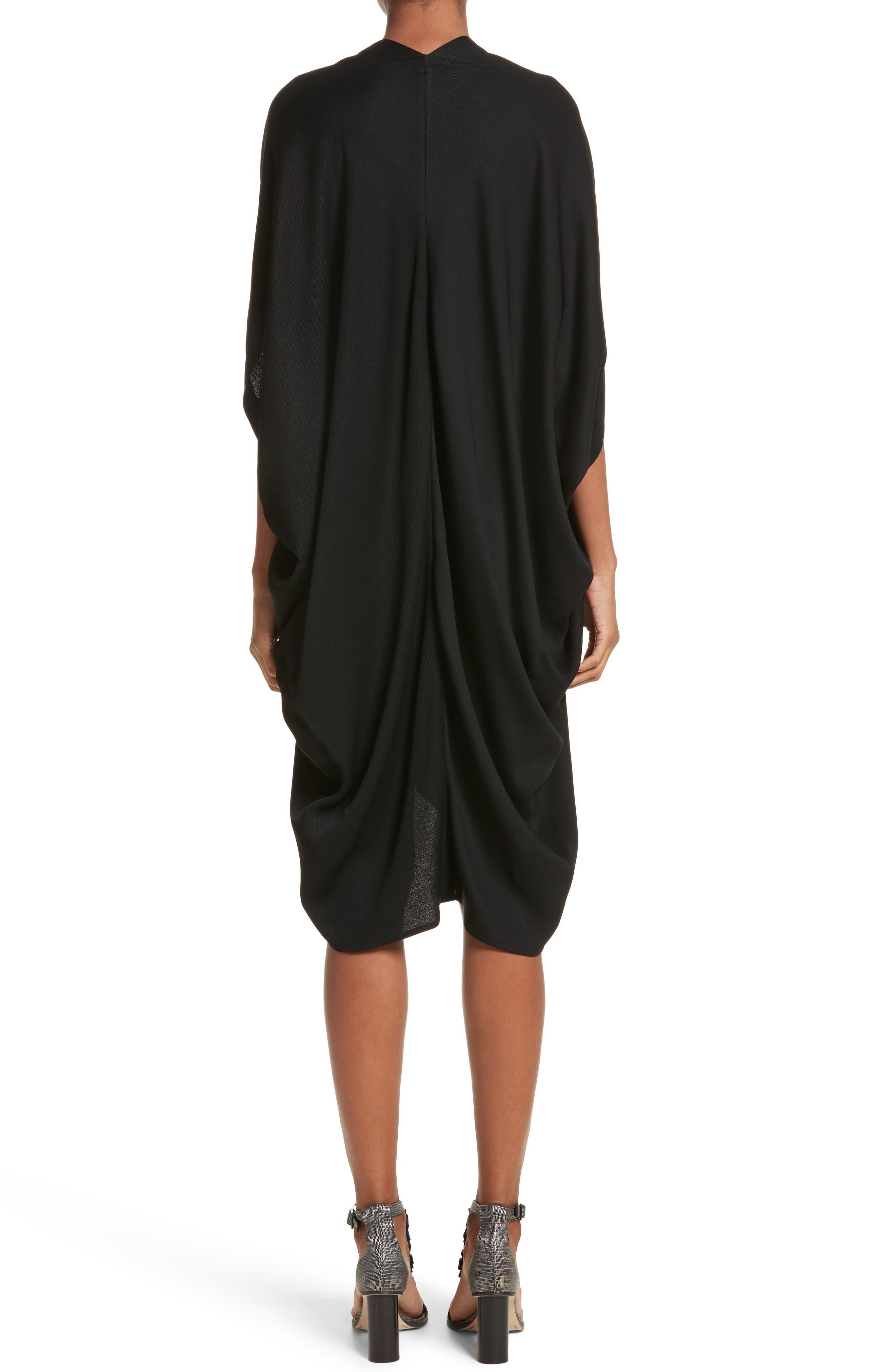 Eco Drape Dress,                             Alternate thumbnail 2, color,                             Black