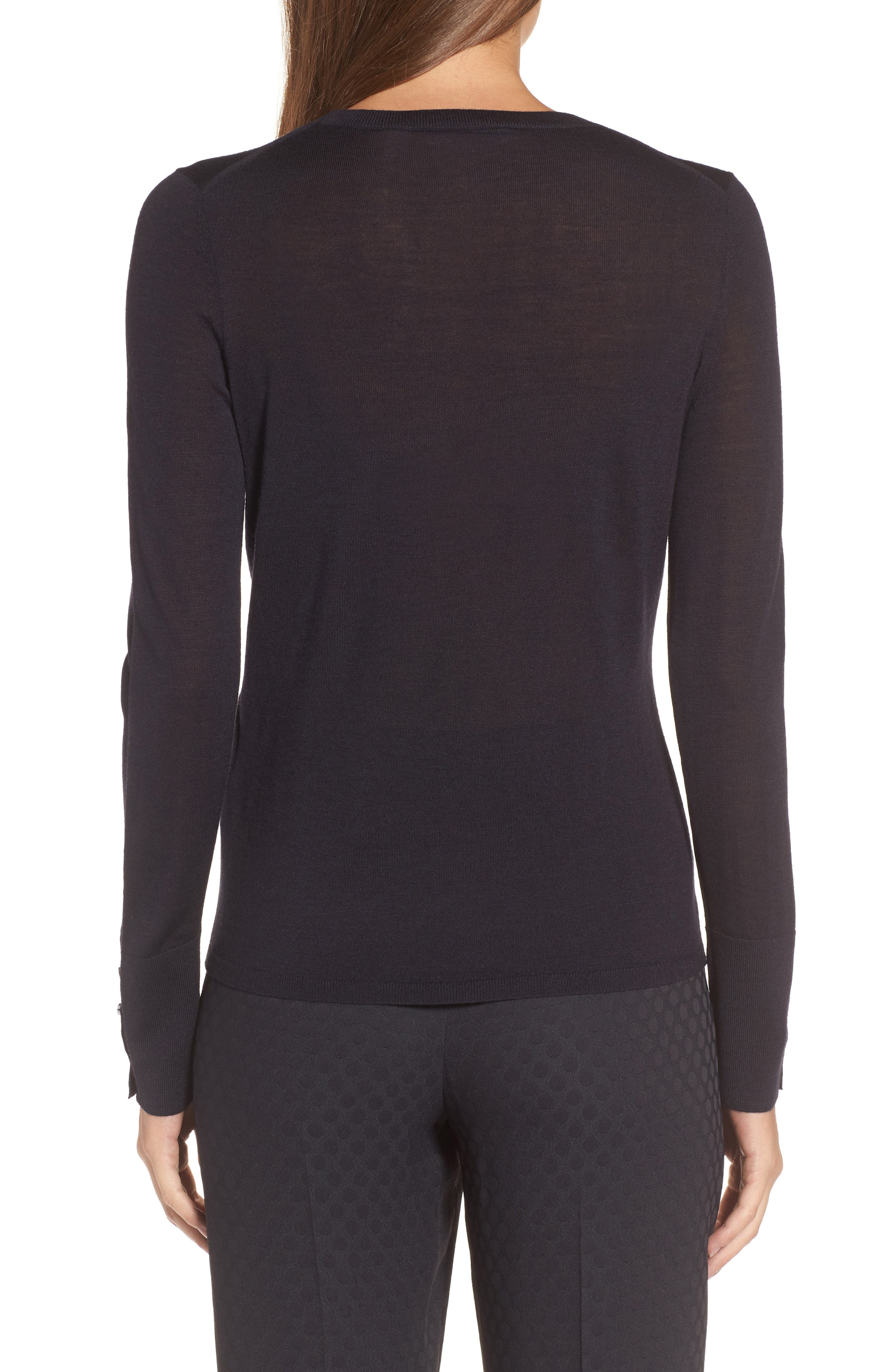 Alternate Image 2  - BOSS Frankie Cuff Detail Wool Sweater (Nordstrom Exclusive)