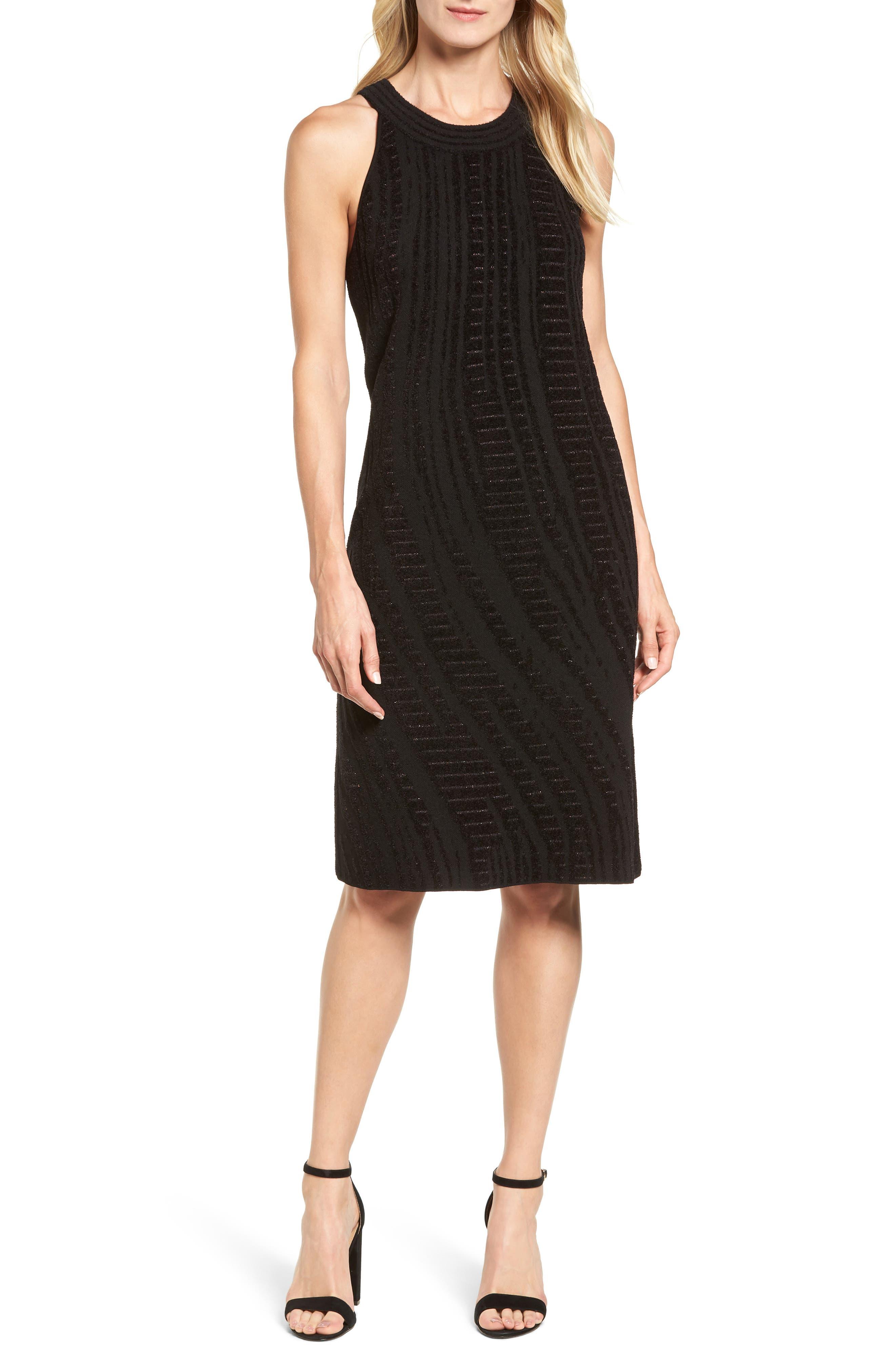 Winter Reign Dress,                         Main,                         color, Black Multi