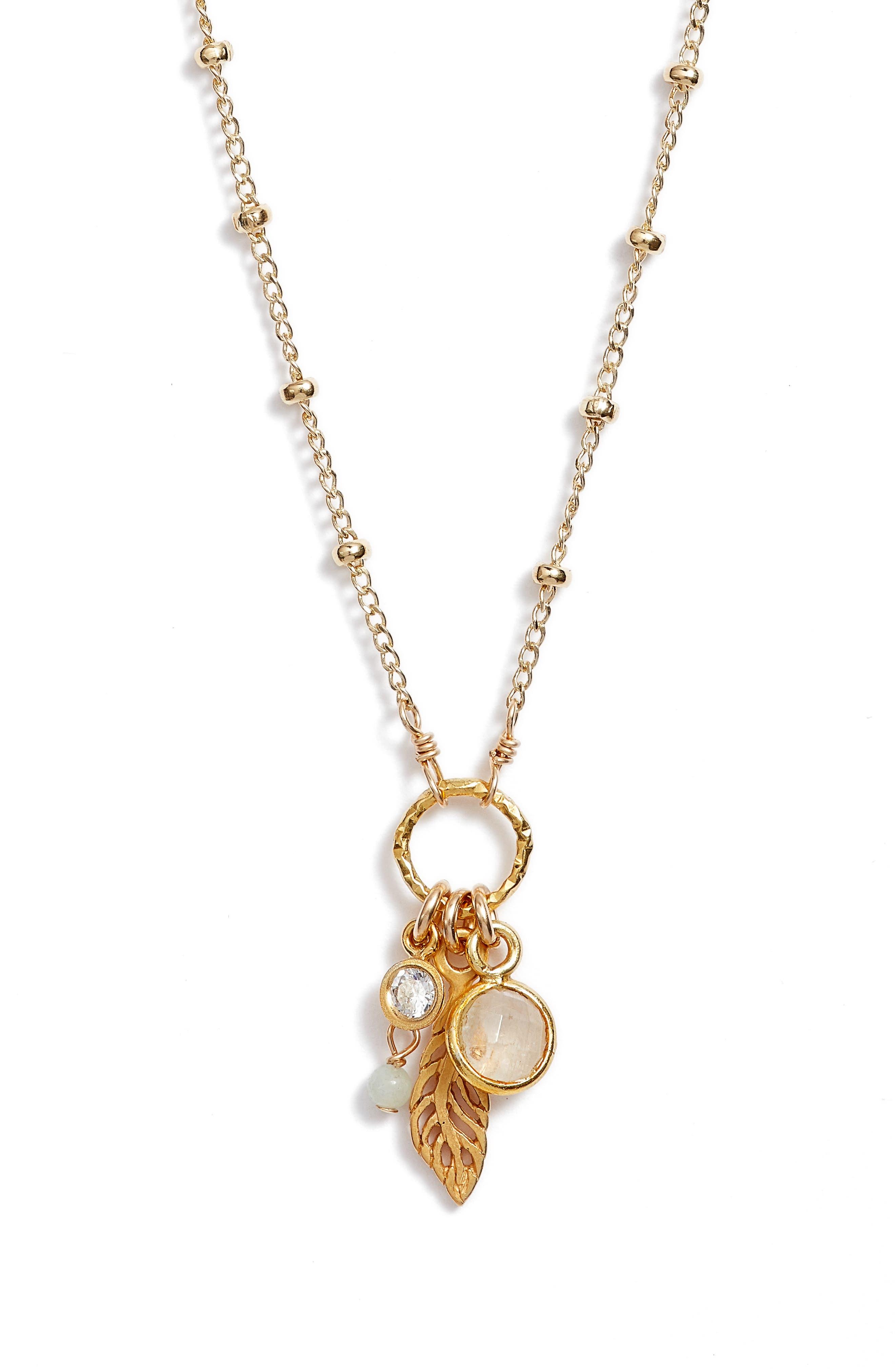 Featherlight Pendant Necklace,                             Alternate thumbnail 3, color,                             Gold