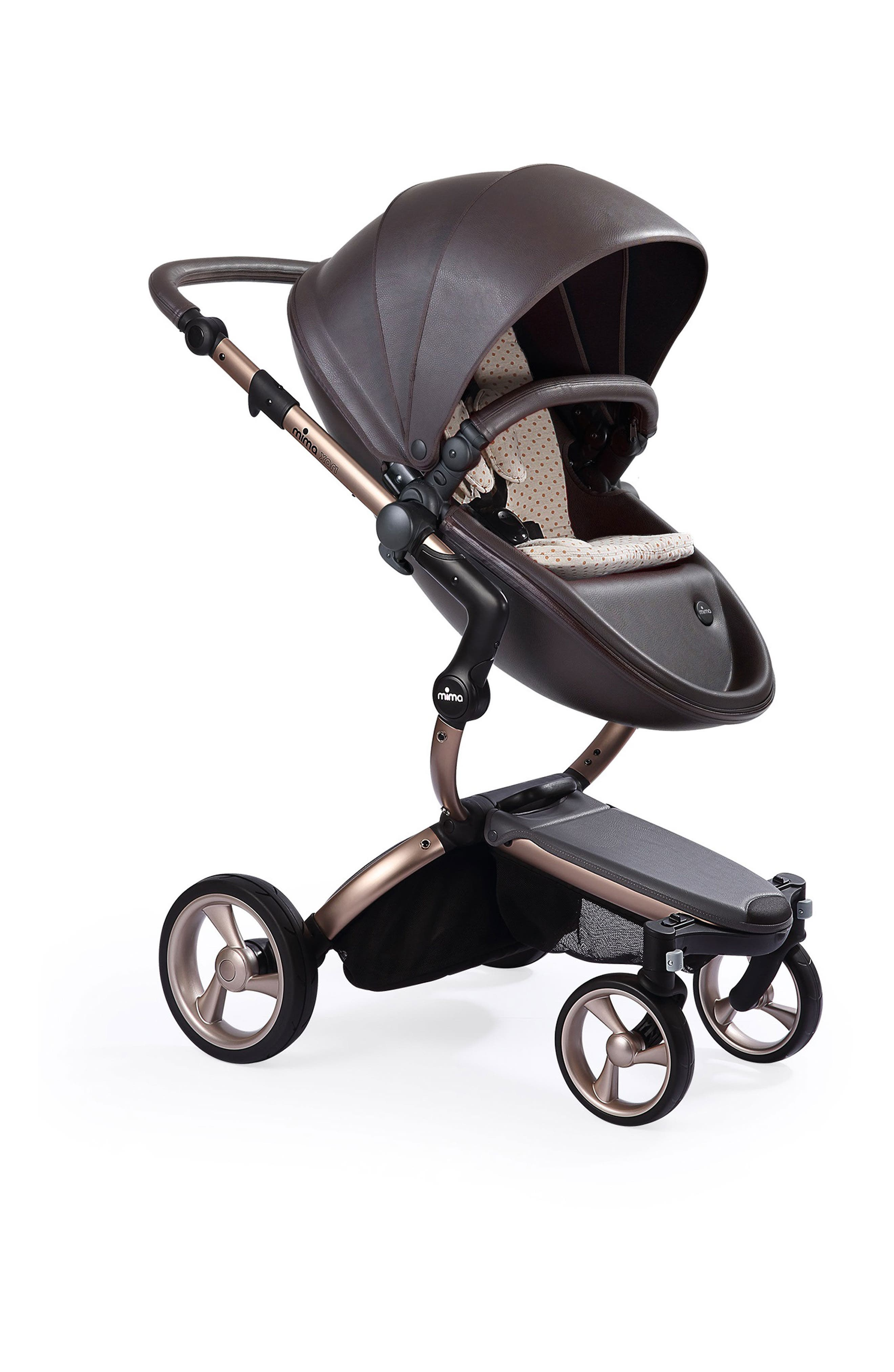 Alternate Image 1 Selected - Mima Xari Rose Gold Chassis Stroller with Reversible Reclining Seat & Carrycot