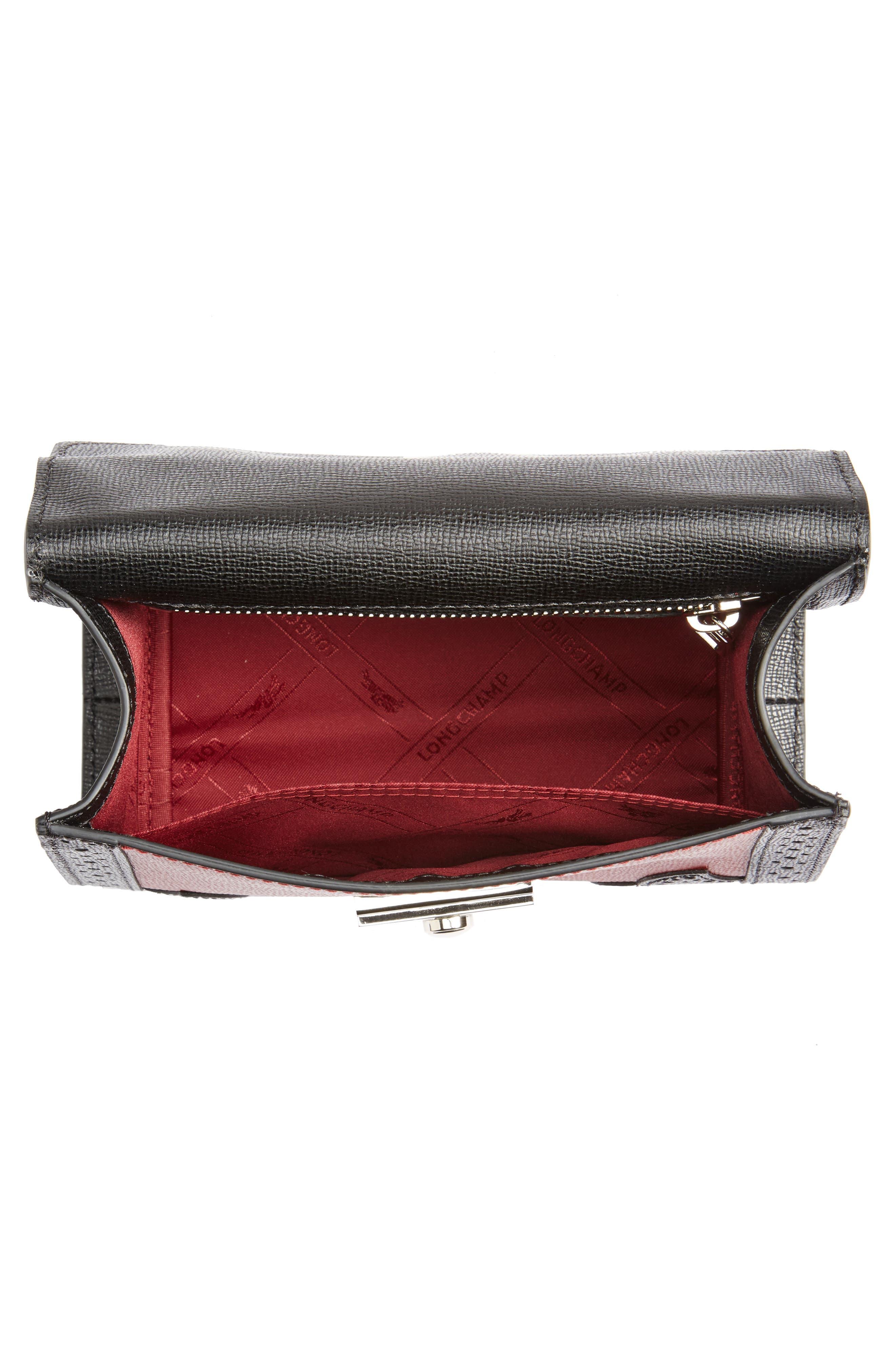 Effrontée Leather Crossbody Bag,                             Alternate thumbnail 3, color,                             Red Lacquer