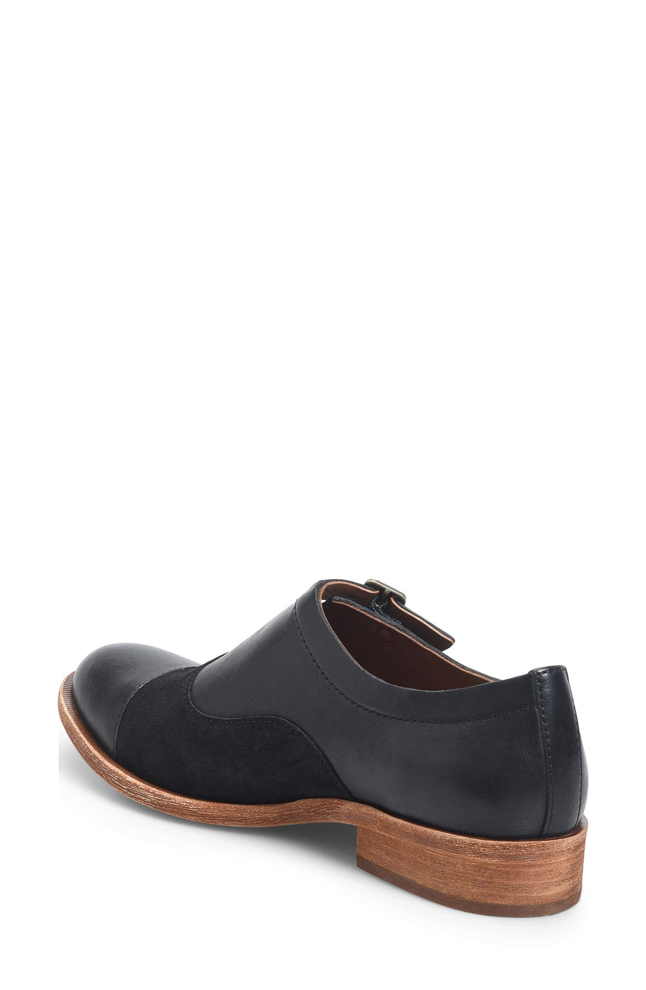 'Niseda' Oxford,                             Alternate thumbnail 3, color,                             Black Leather Suede Combo