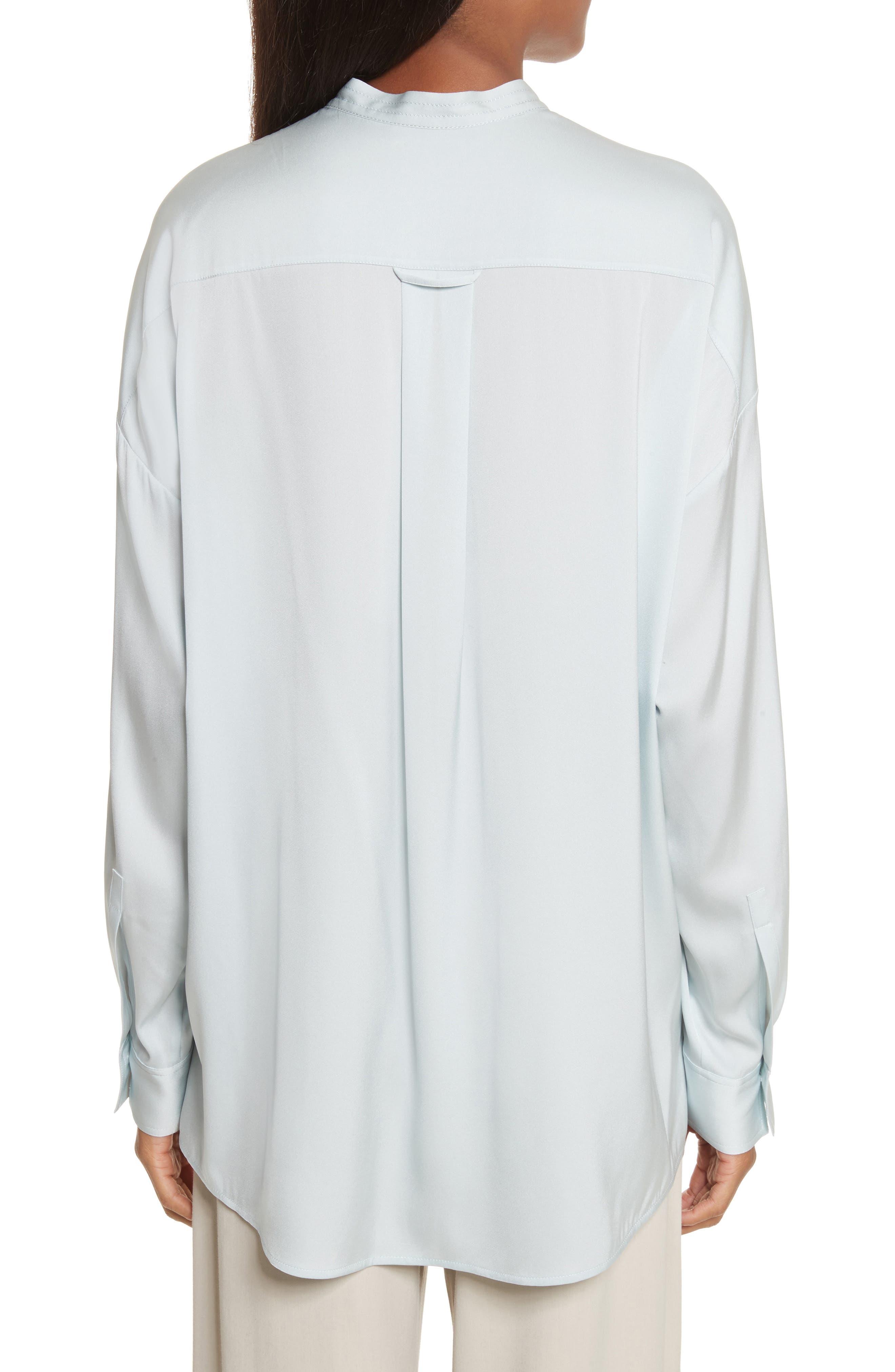 Alternate Image 2  - Vince Trapunto Stretch Silk Blouse