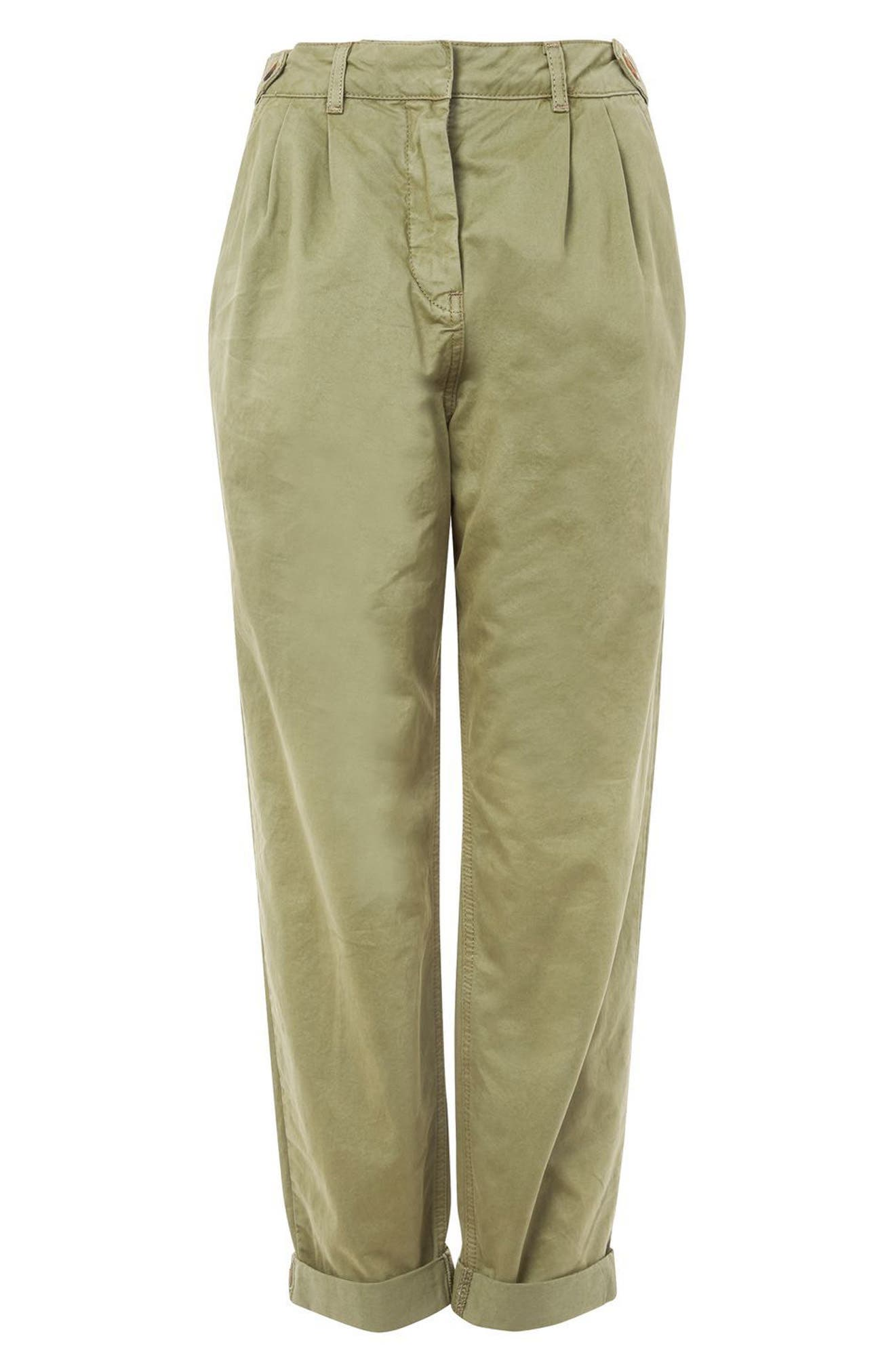 Alternate Image 4  - Topshop Side Tab Utility Trousers