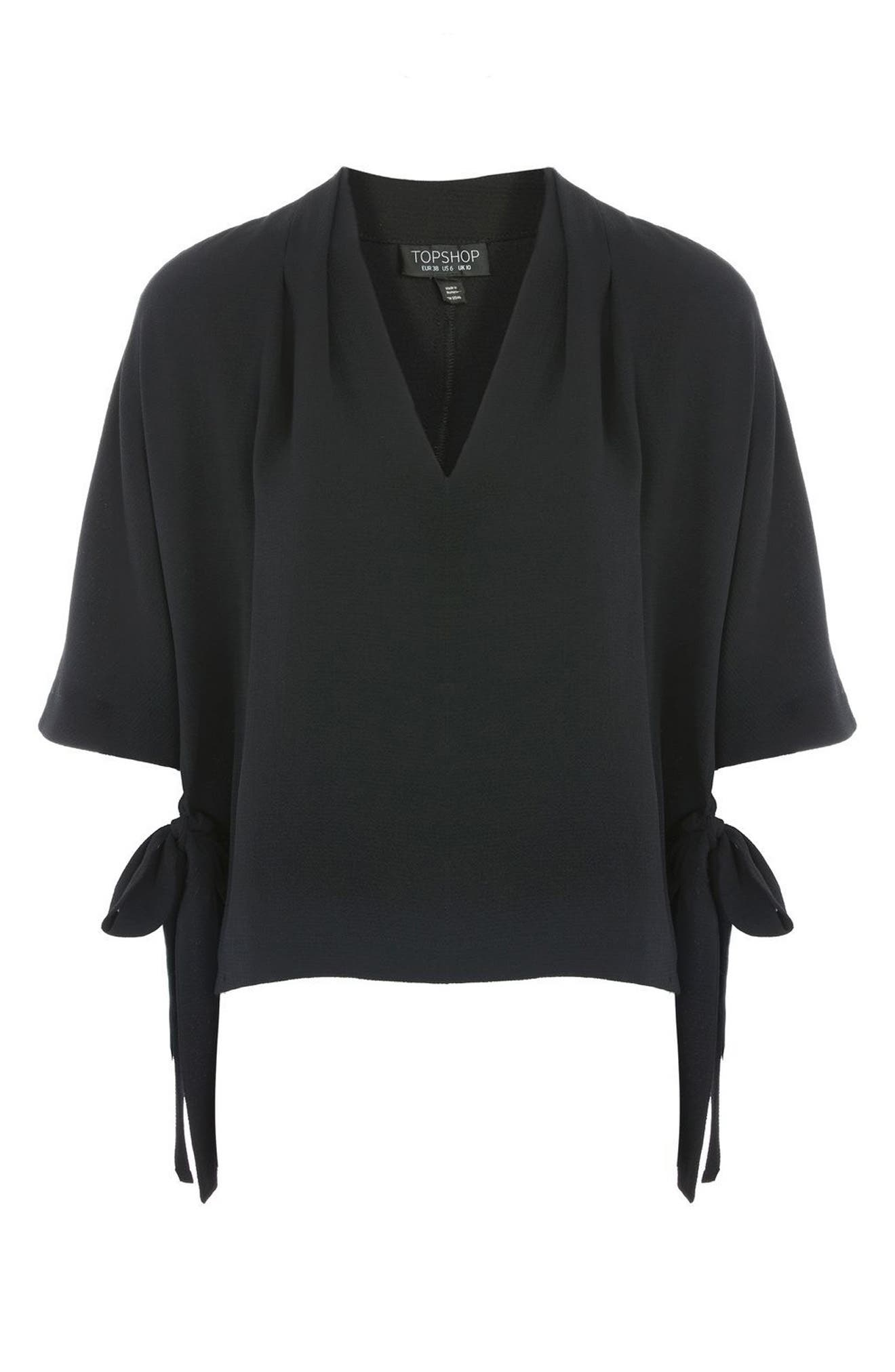 Alternate Image 4  - Topshop Side Tie Blouse