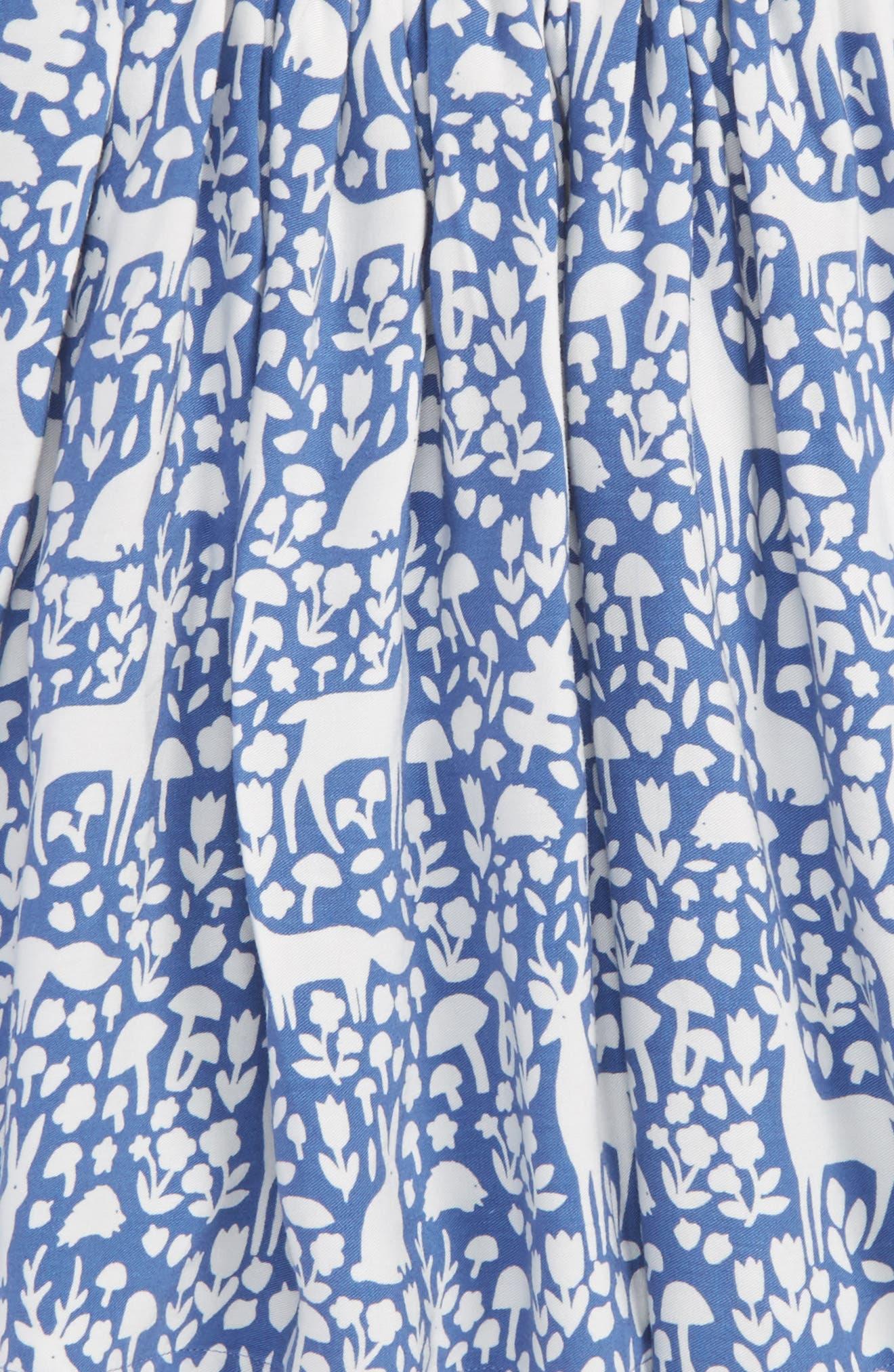 Print Twirly Skirt,                             Alternate thumbnail 2, color,                             Bluebell