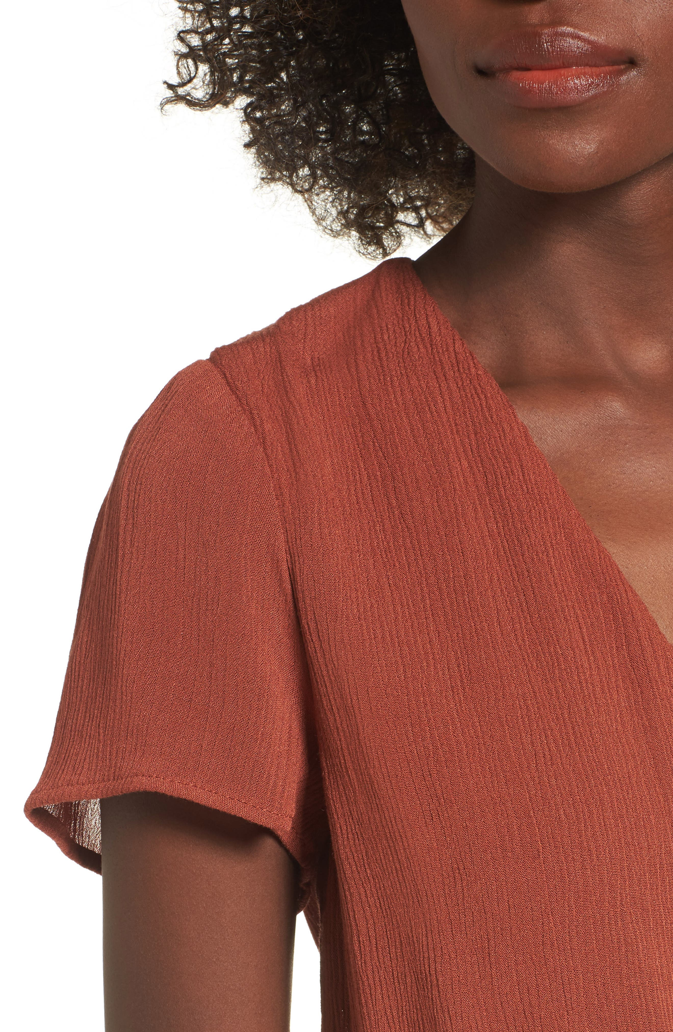Alternate Image 4  - WAYF Blouson Midi Dress