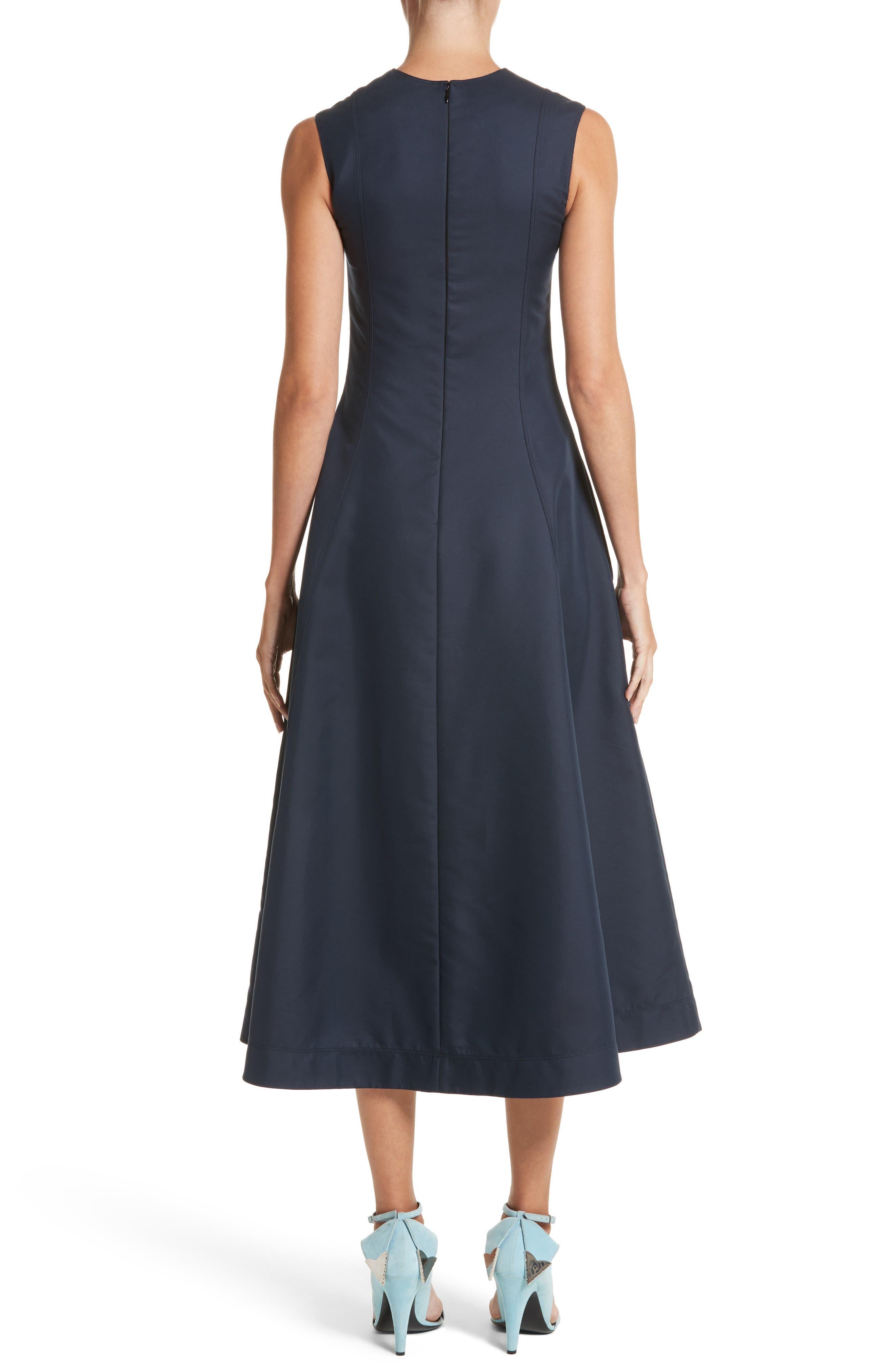 Alternate Image 2  - Calvin Klein 205W39NYC Cotton & Silk Dress