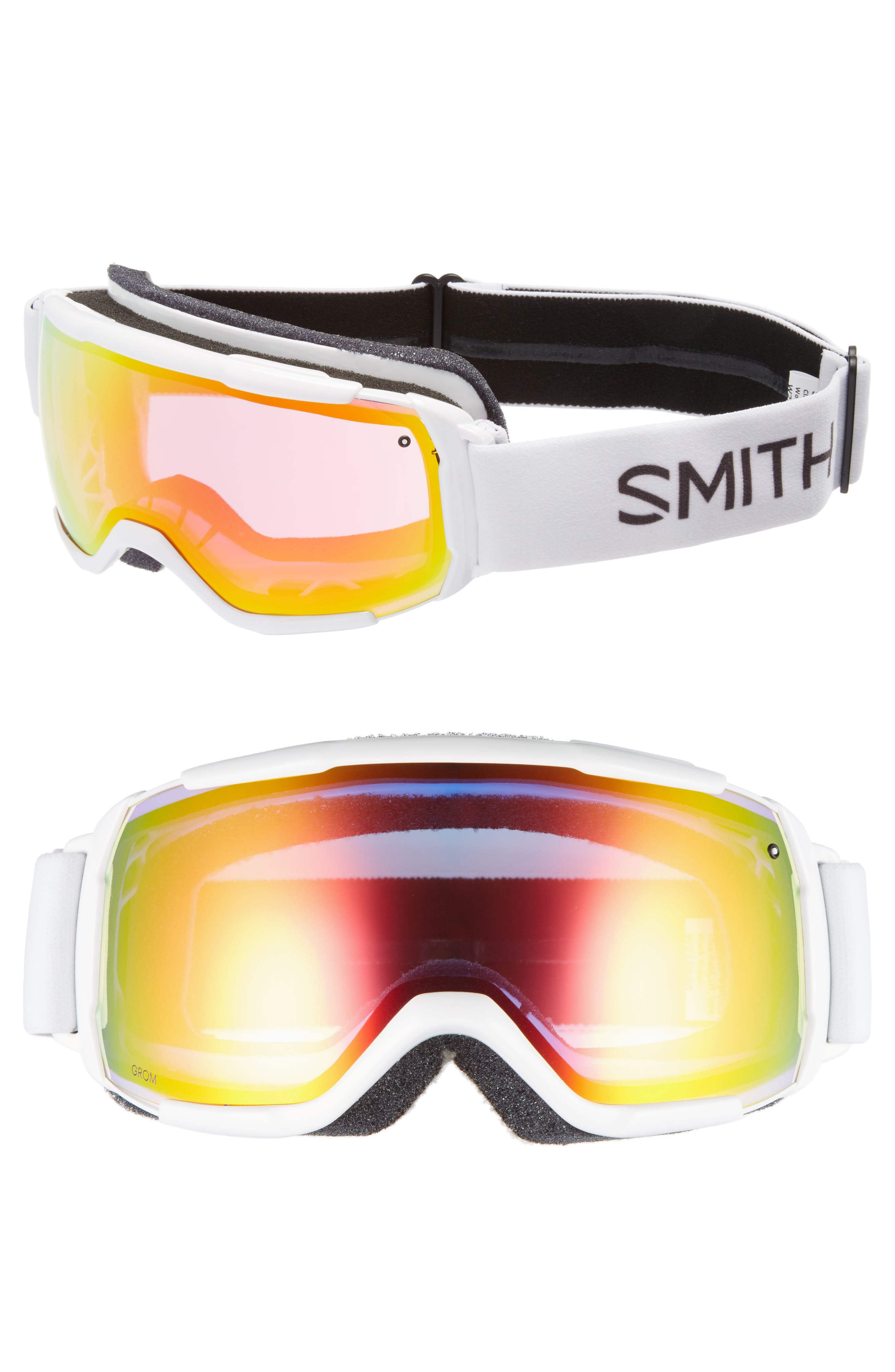 GROM SNOW GOGGLES - WHITE/ MIRROR