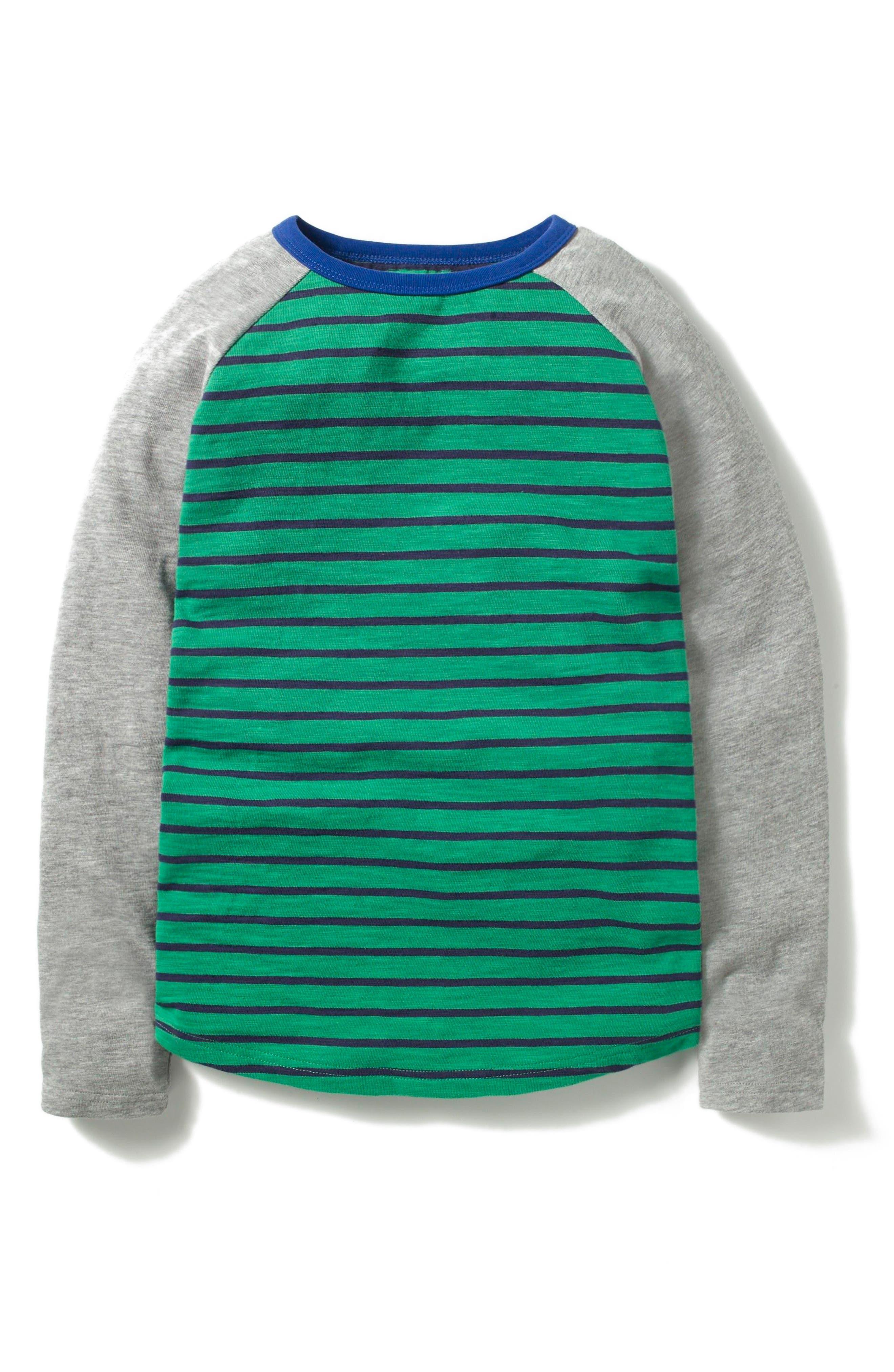 Mini Boden Raglan T-Shirt (Toddler Boys, Little Boys & Big Boys)