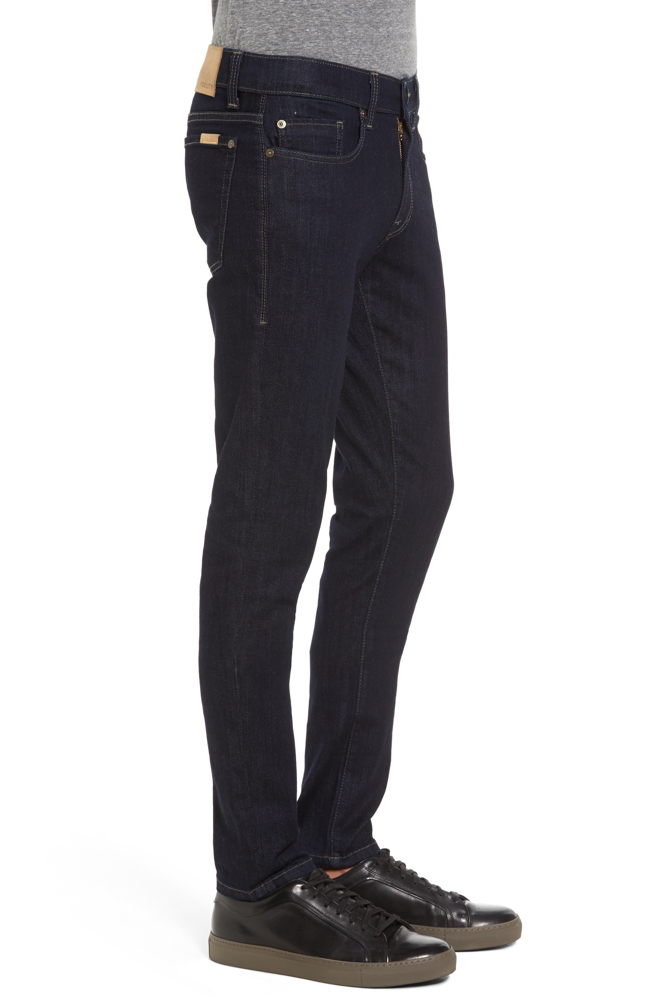 Alternate Image 3  - Fidelity Denim Vantage Skinny Fit Jeans (Galaxy Rinse)
