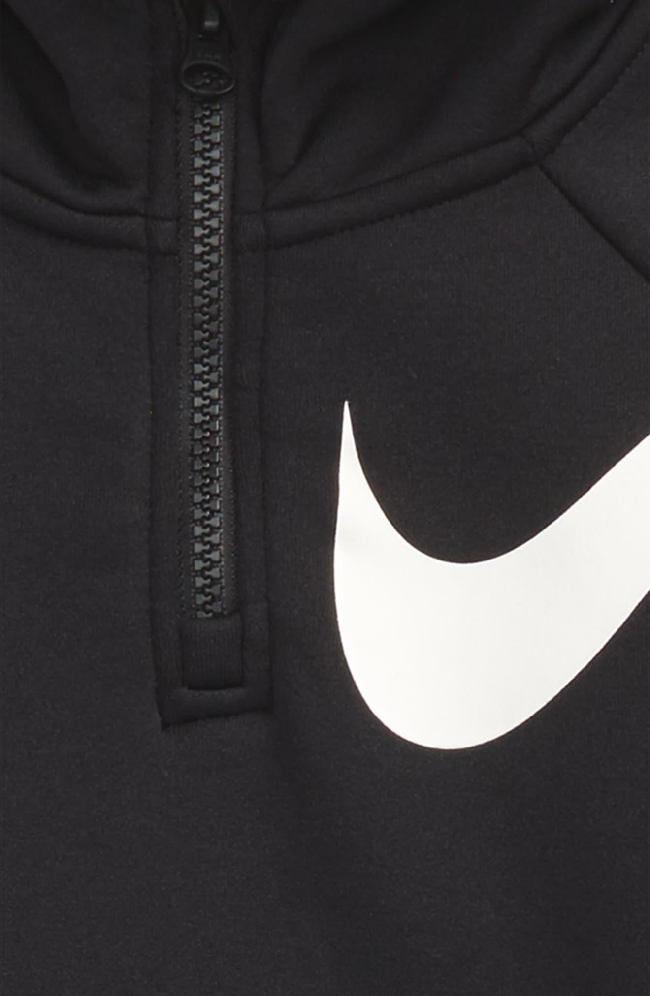 Alternate Image 2  - Nike Therma-FIT Half Zip Hoodie (Big Girls)
