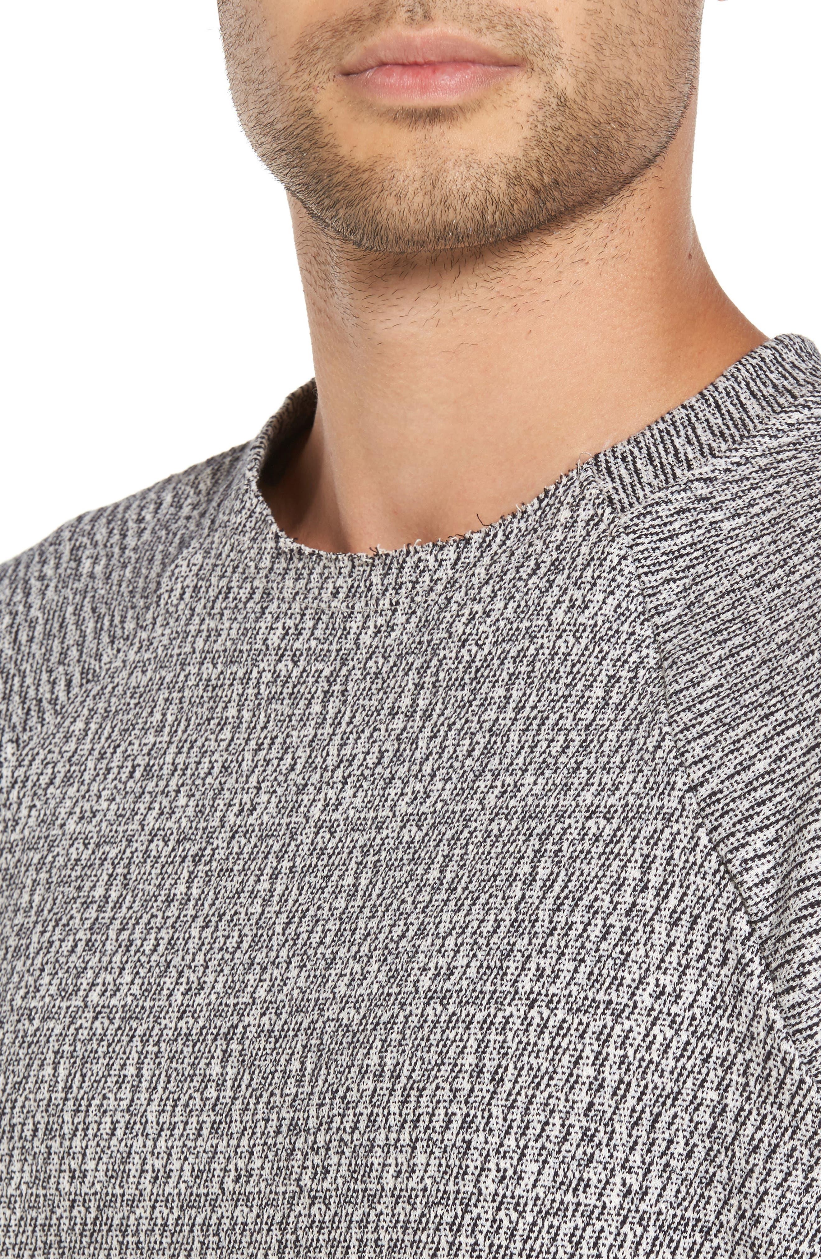 Double Layer Crewneck Sweater,                             Alternate thumbnail 4, color,                             Scour