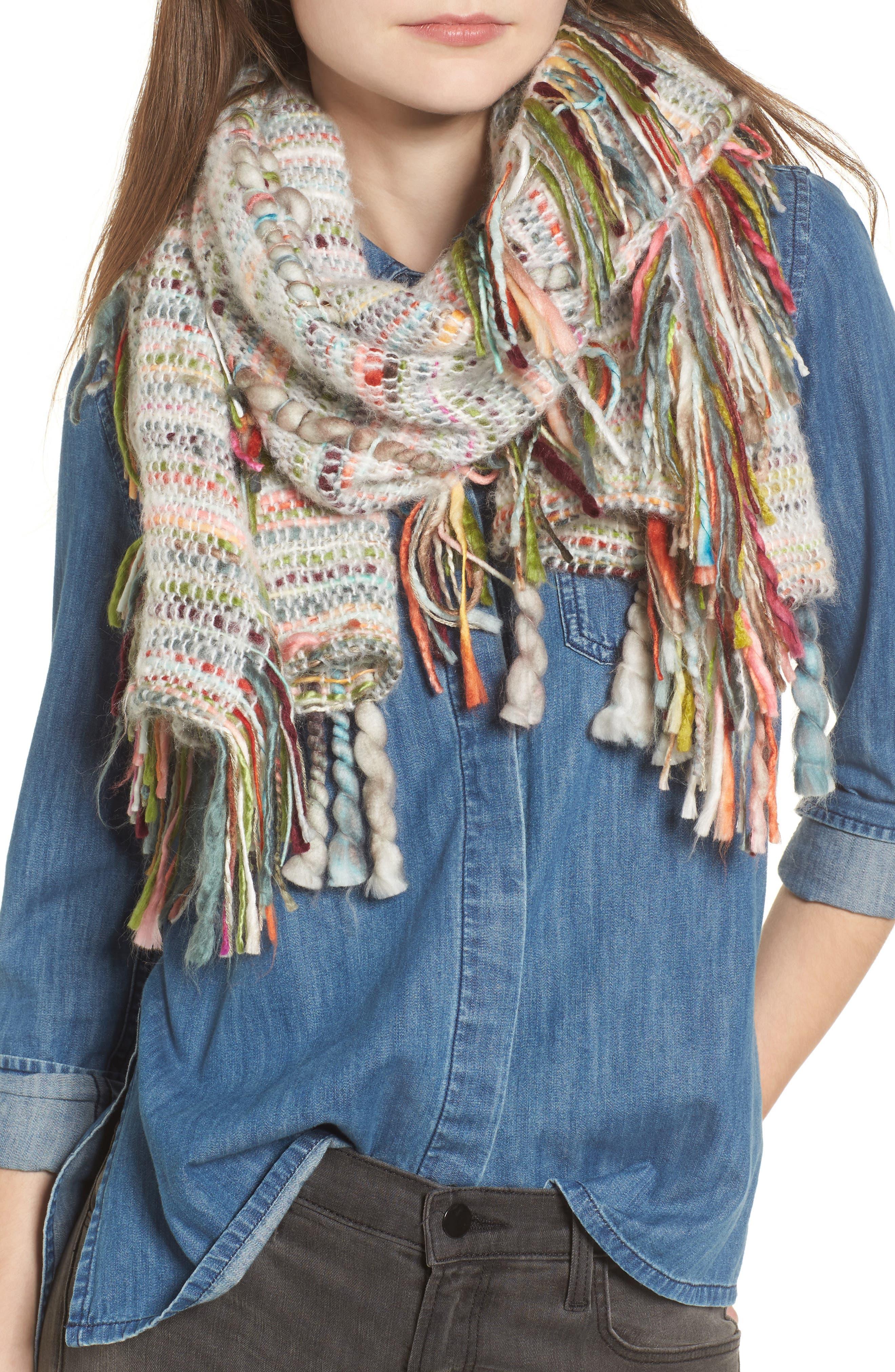 Shiraleah Almara Fringe Knit Scarf