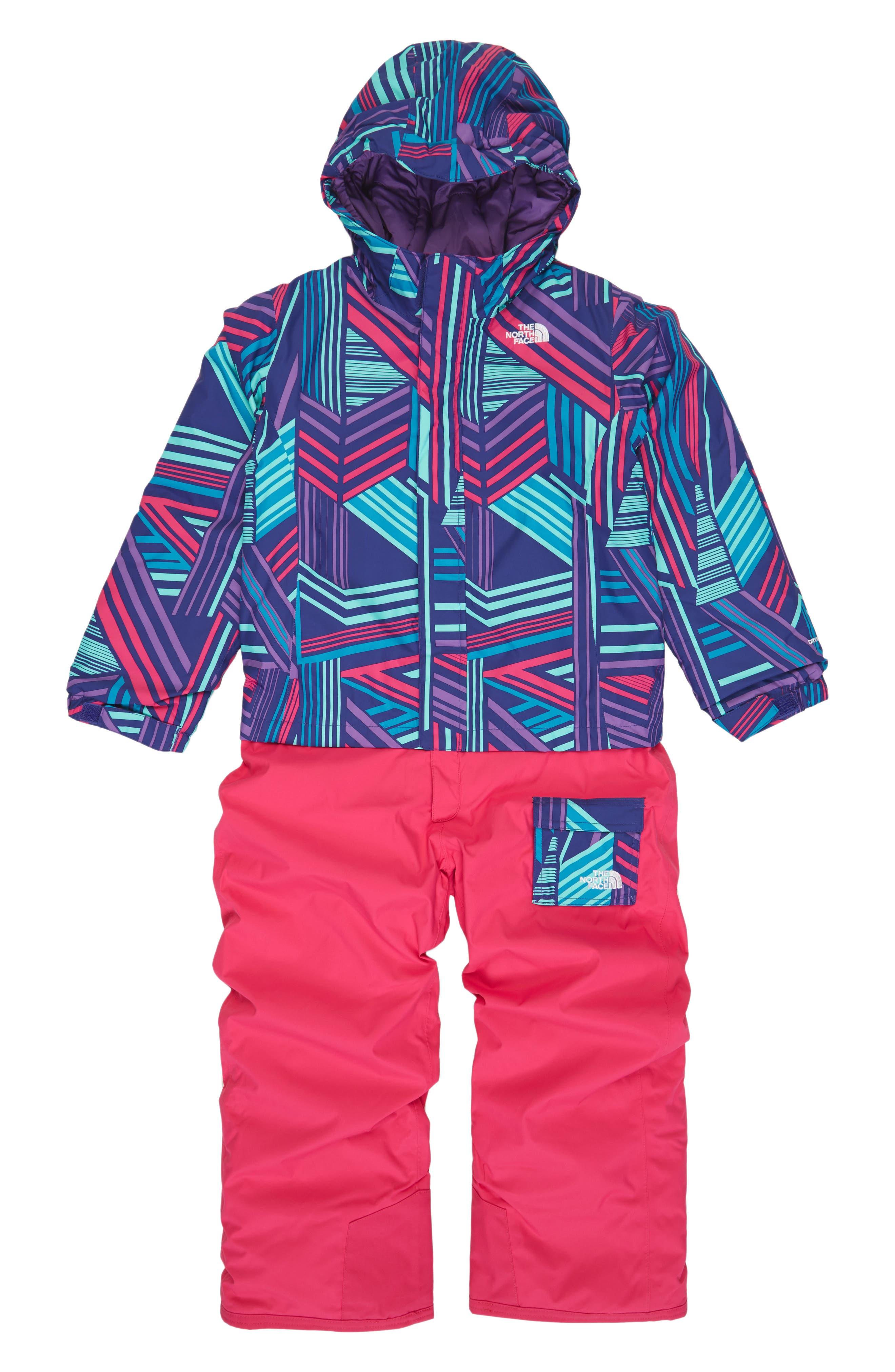 Main Image - The North Face Heatseeker™ Insulated Waterproof Snowsuit (Toddler Girls)
