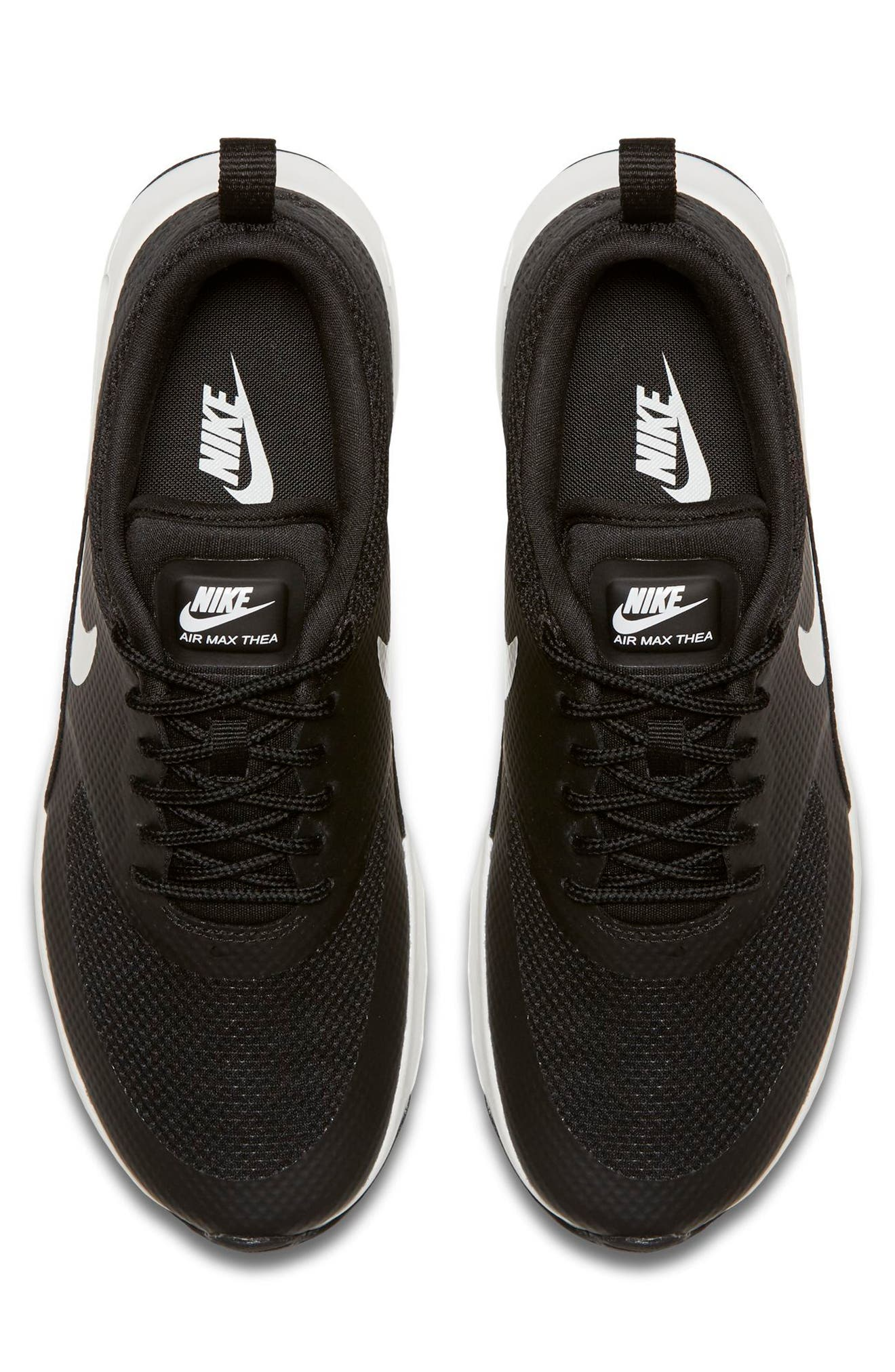 Air Max Thea Sneaker,                             Alternate thumbnail 3, color,                             Black/ Summit White