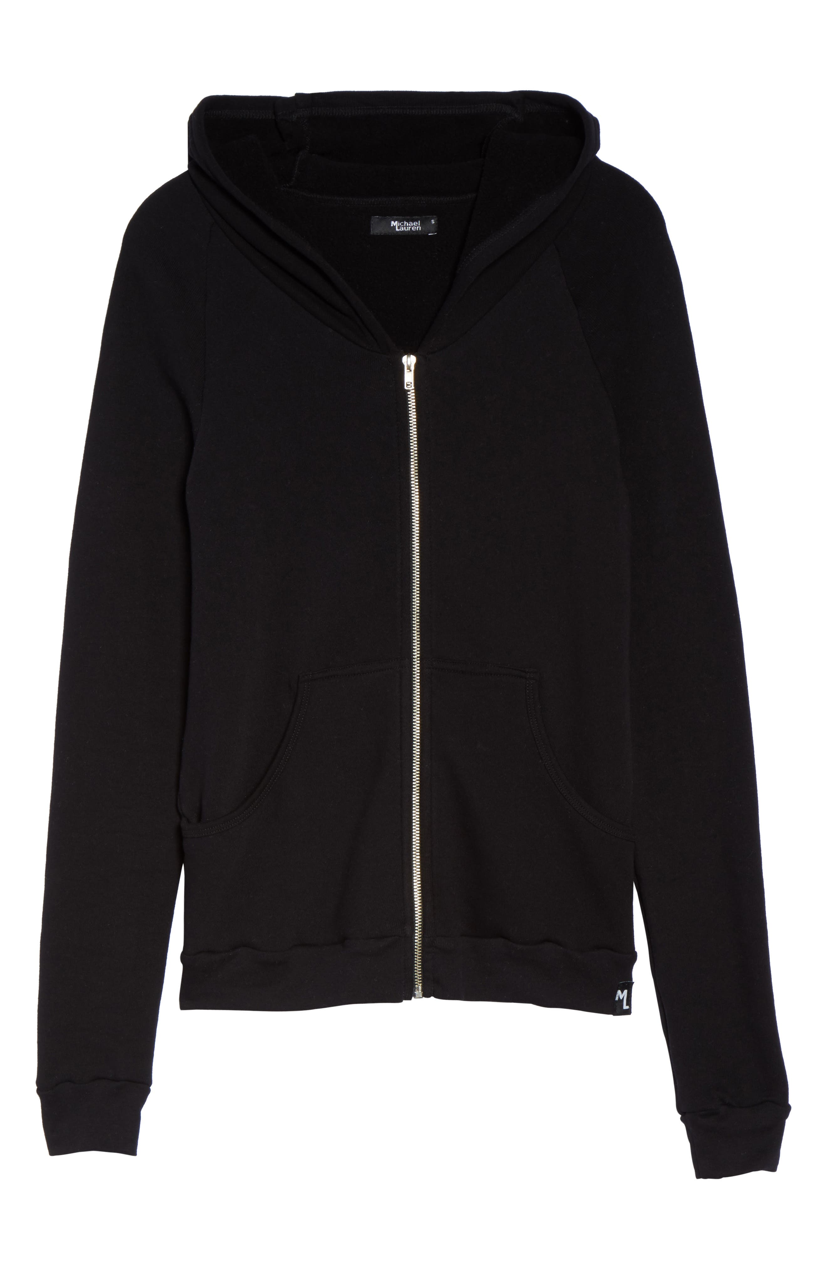 Alternate Image 4  - Michael Lauren Paris Zip Lounge Hoodie