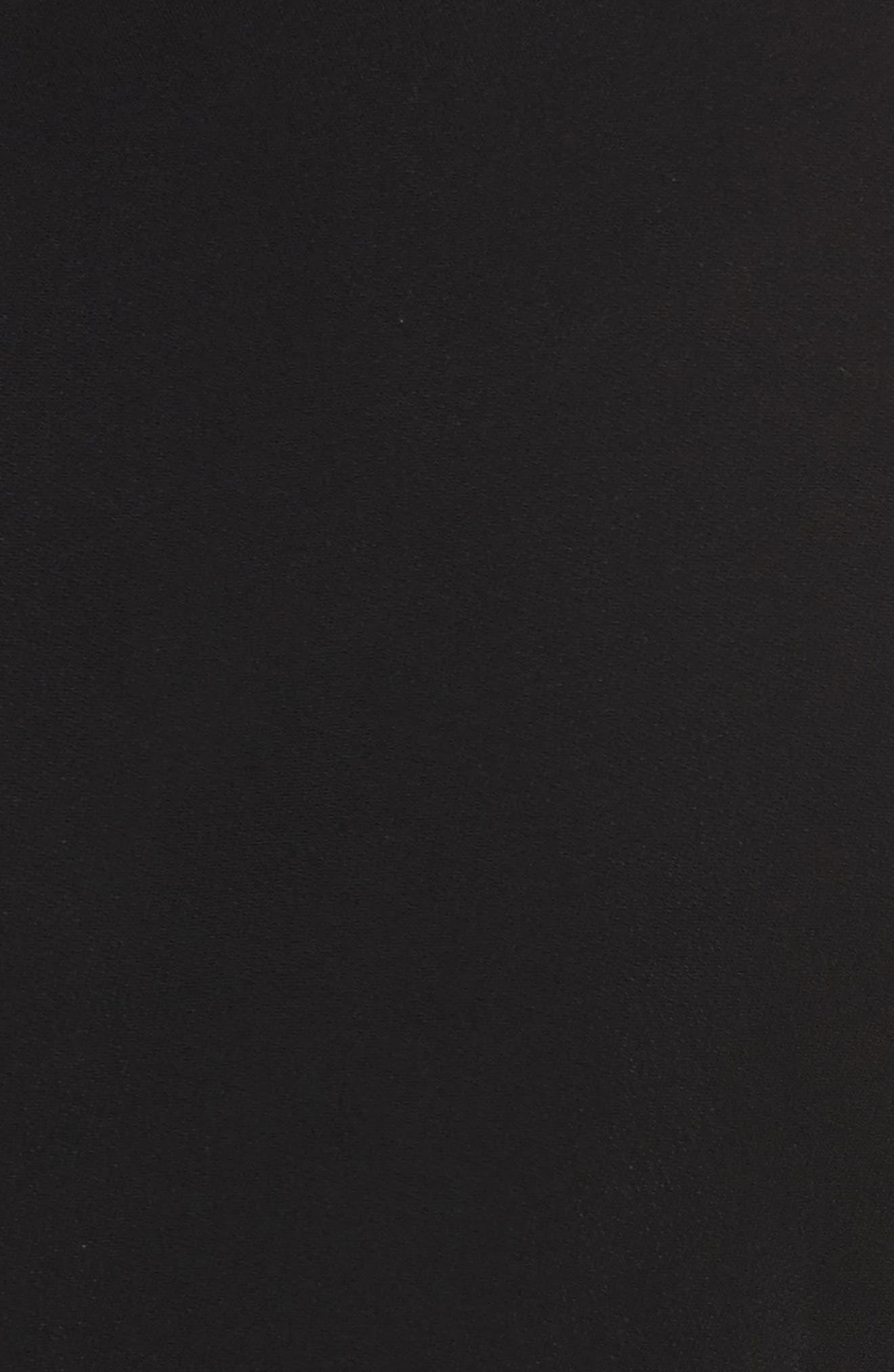Taraji Studded Dress,                             Alternate thumbnail 5, color,                             Black